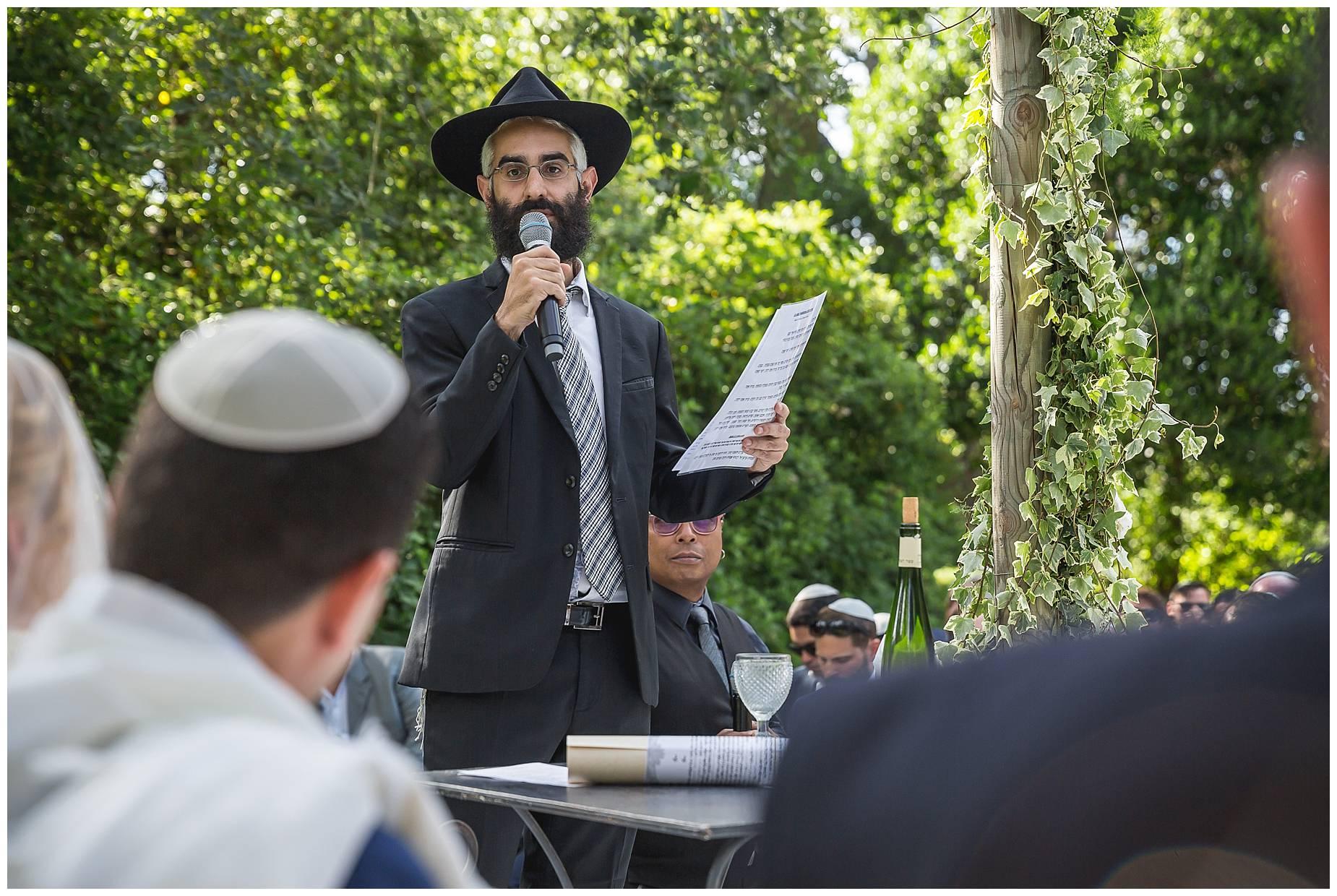rabbi at Chateau de Pouget