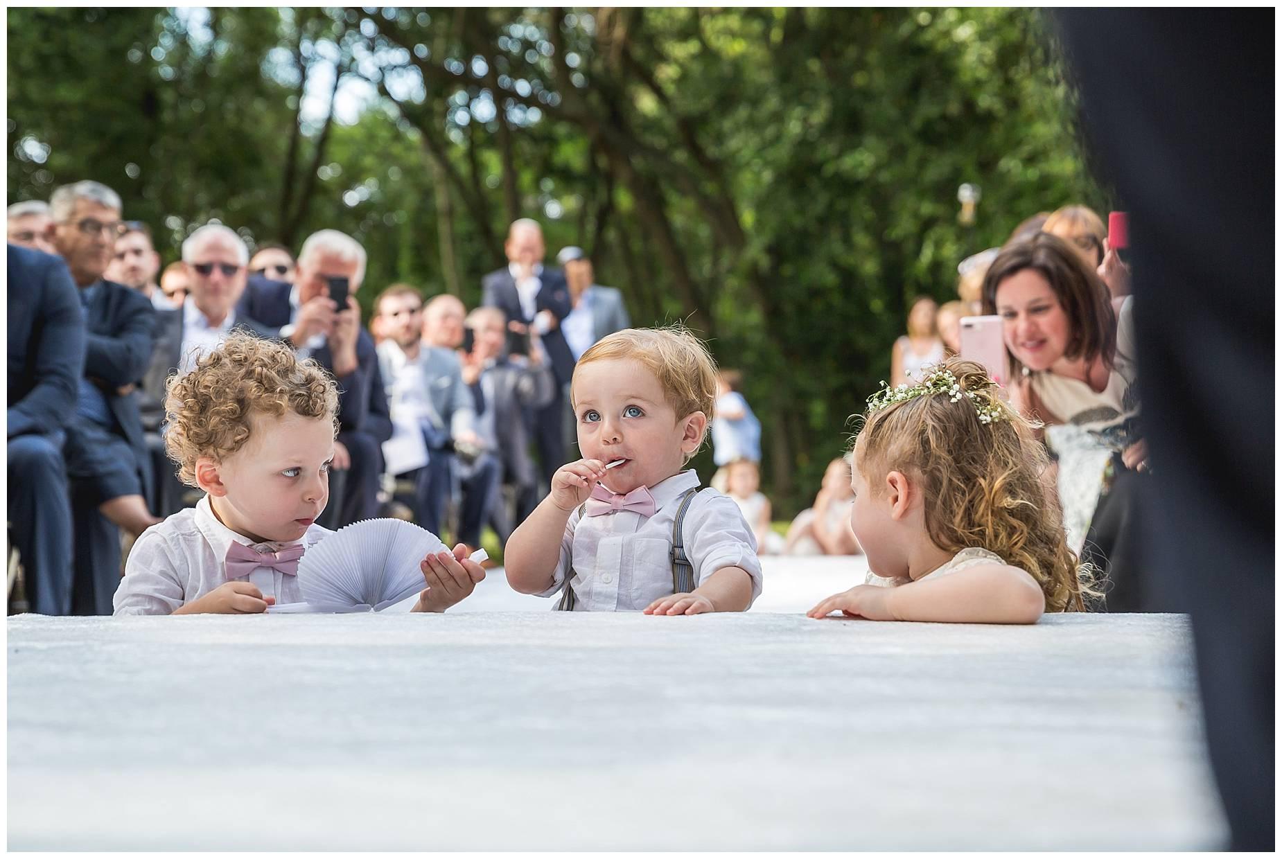 kids watching wedding ceremony