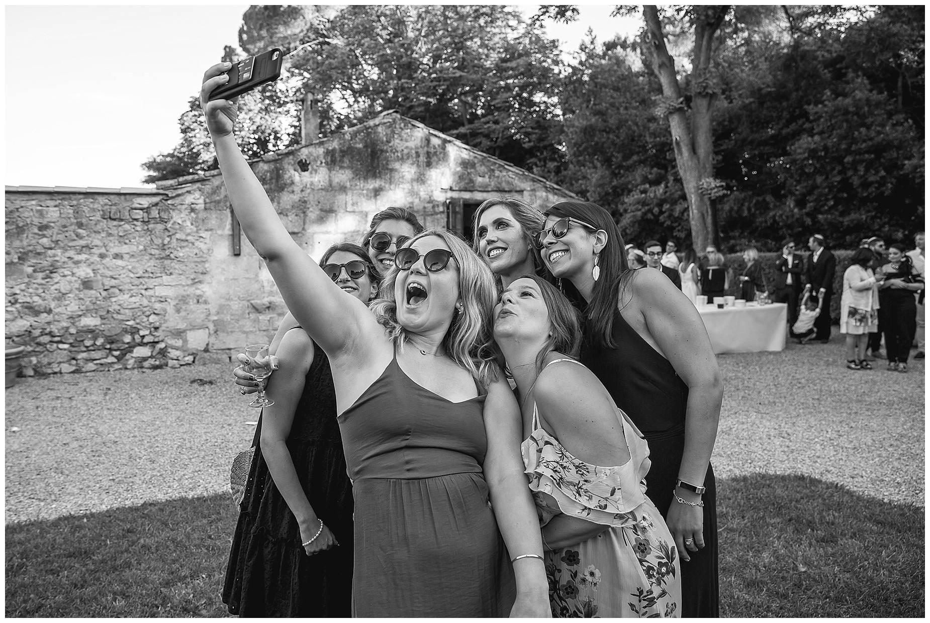 Chateau de Pouget documentary wedding photos