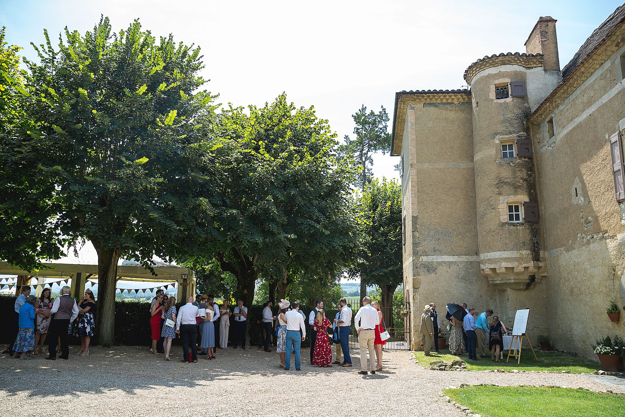 Chateau Brametourte guests gather