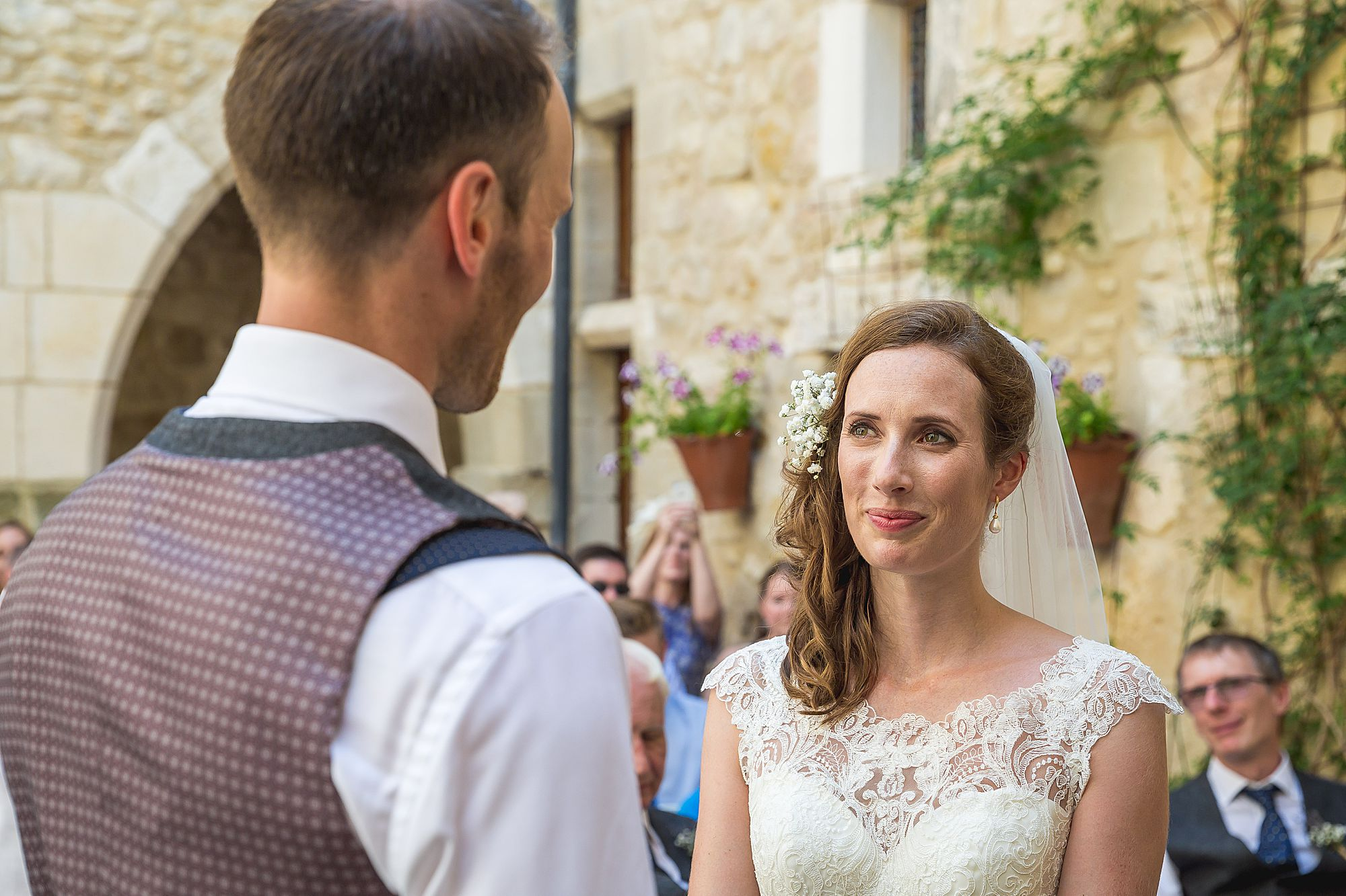 couple exchange vows