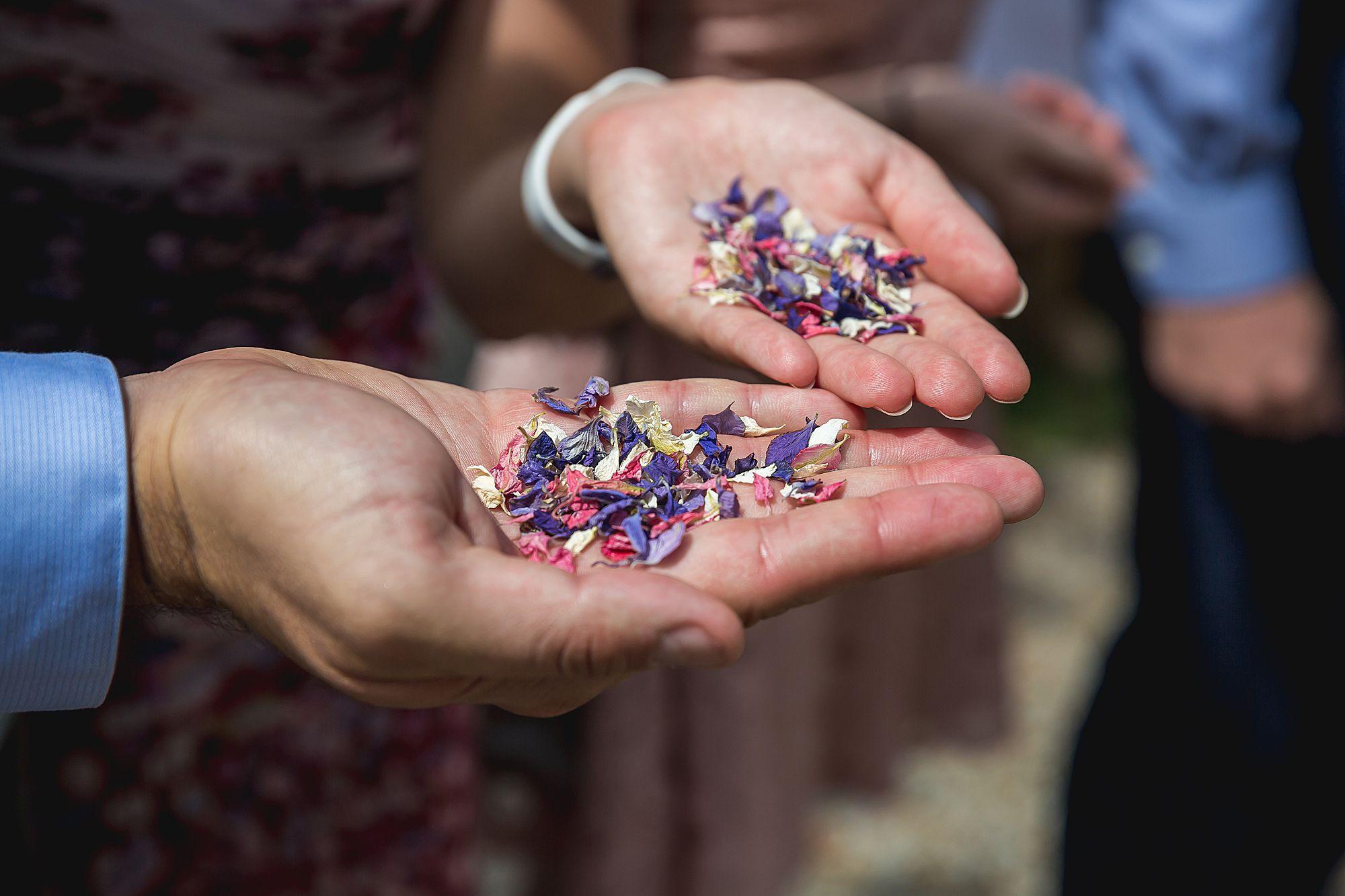 confetti in a hand