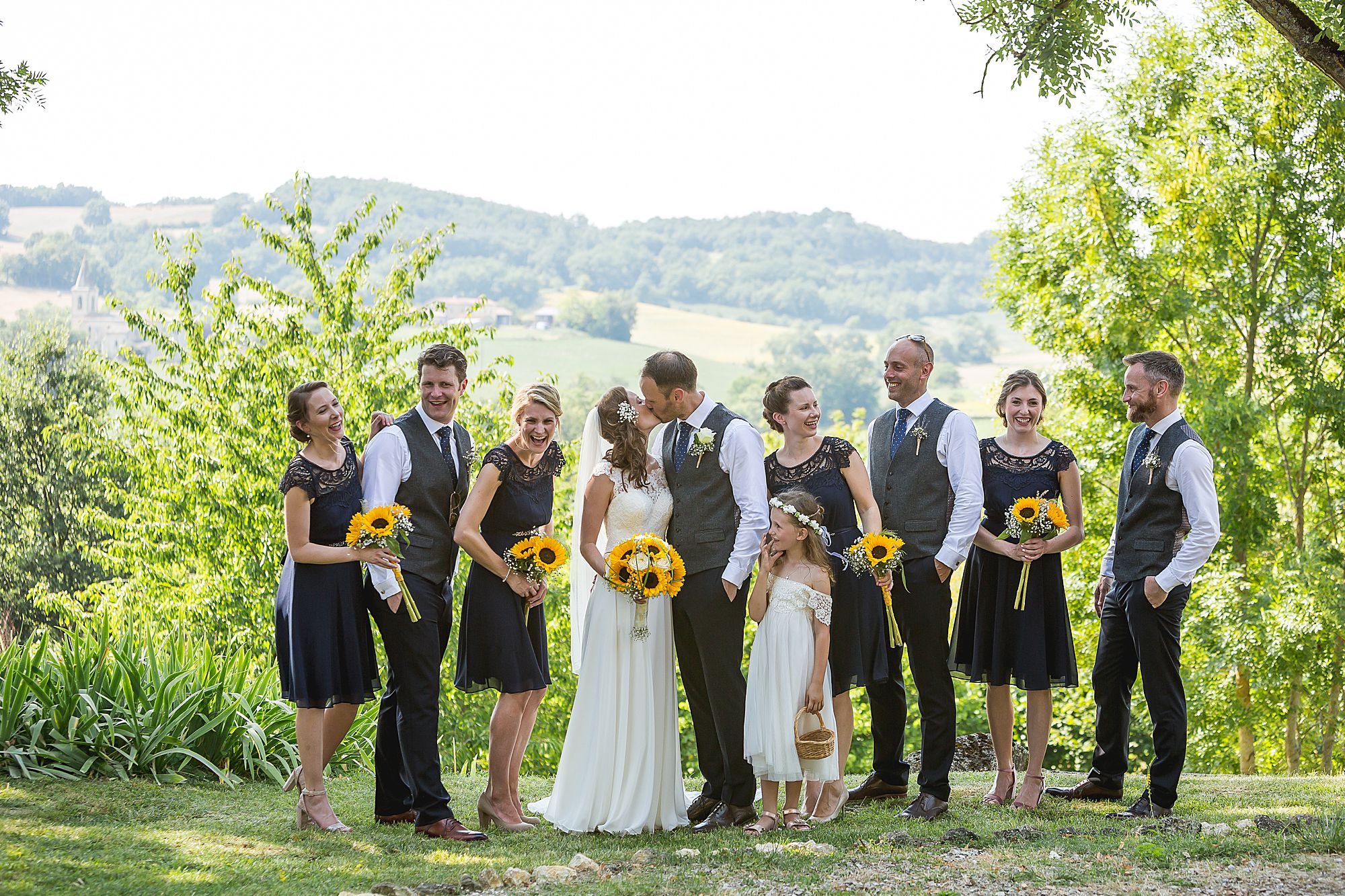 bridal party sunflower