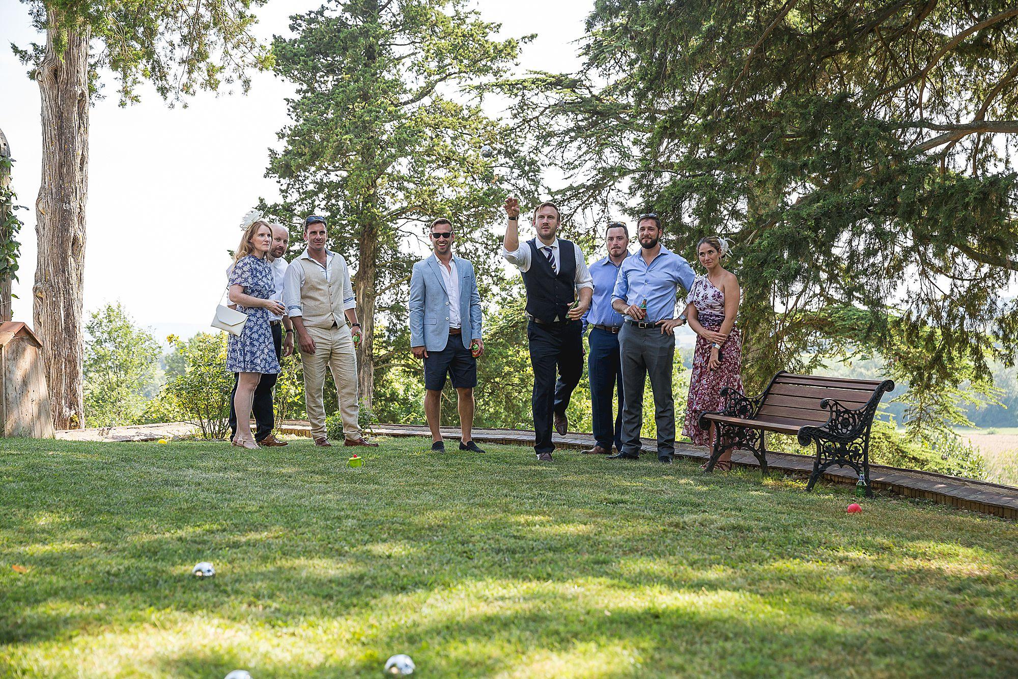 guests play petanque