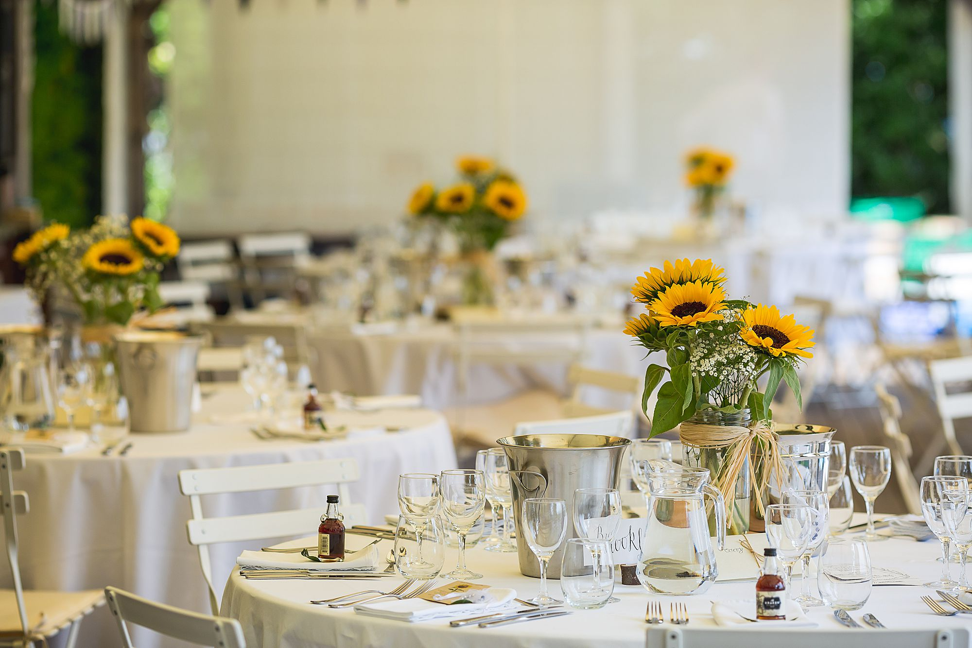 sunflowers at wedding