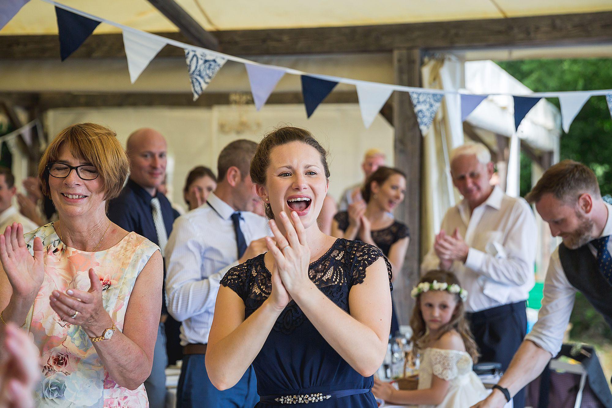 bridesmaid clapping