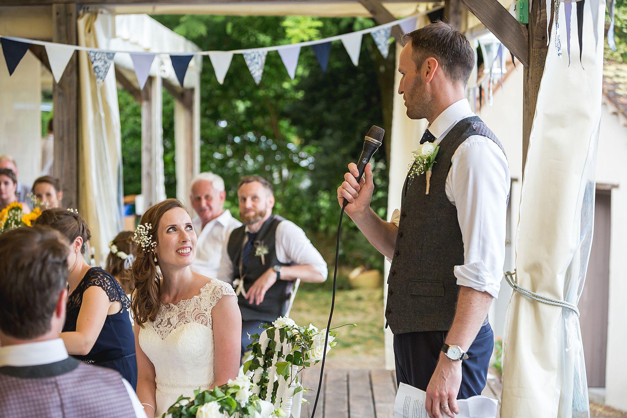 groom talk to bride