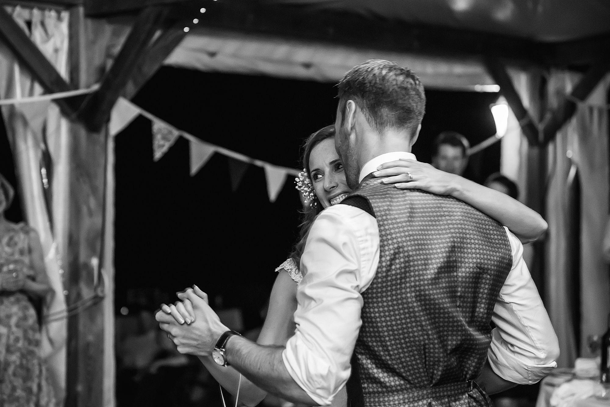 first dance at Chateau Brametourte wedding