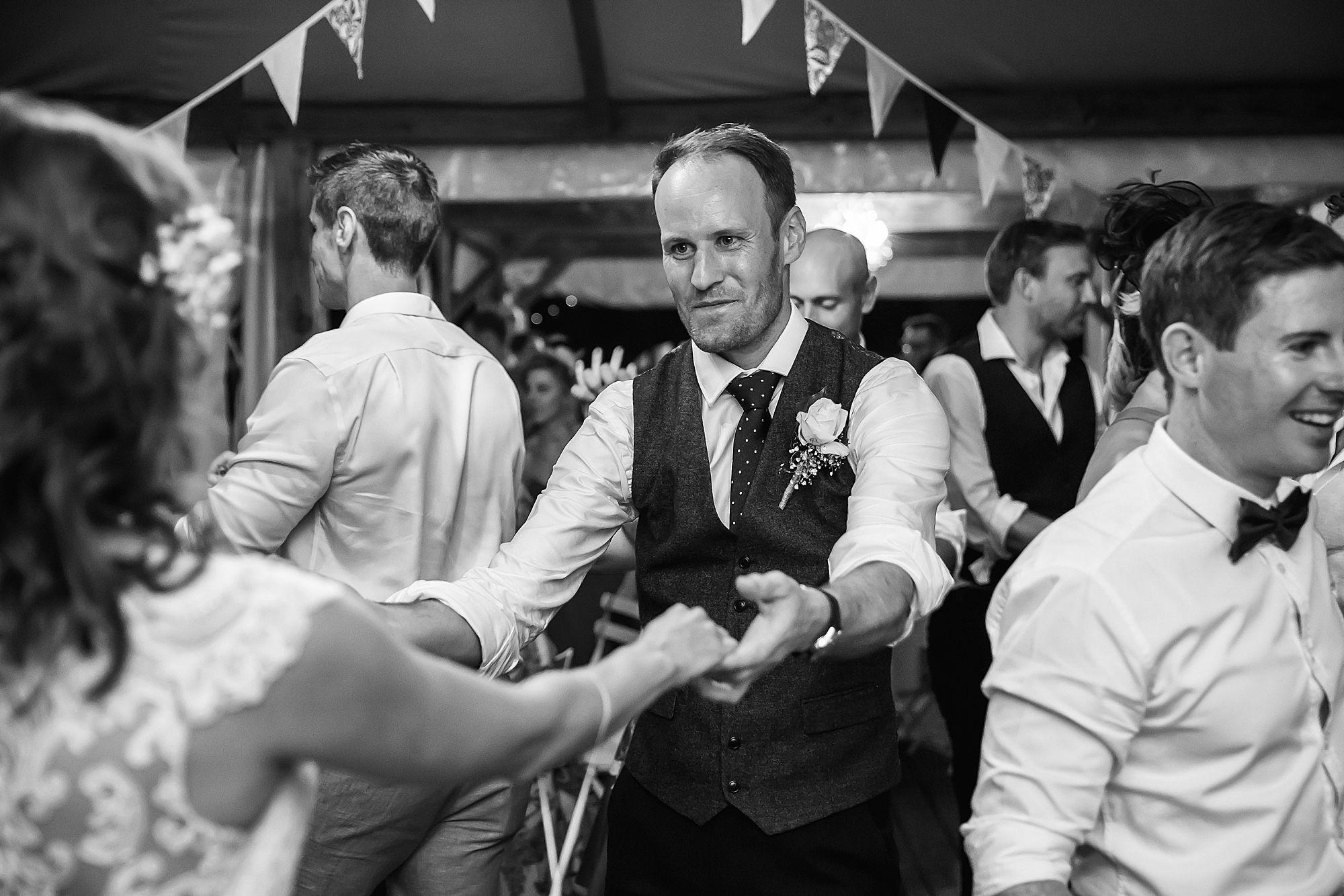 groom dances