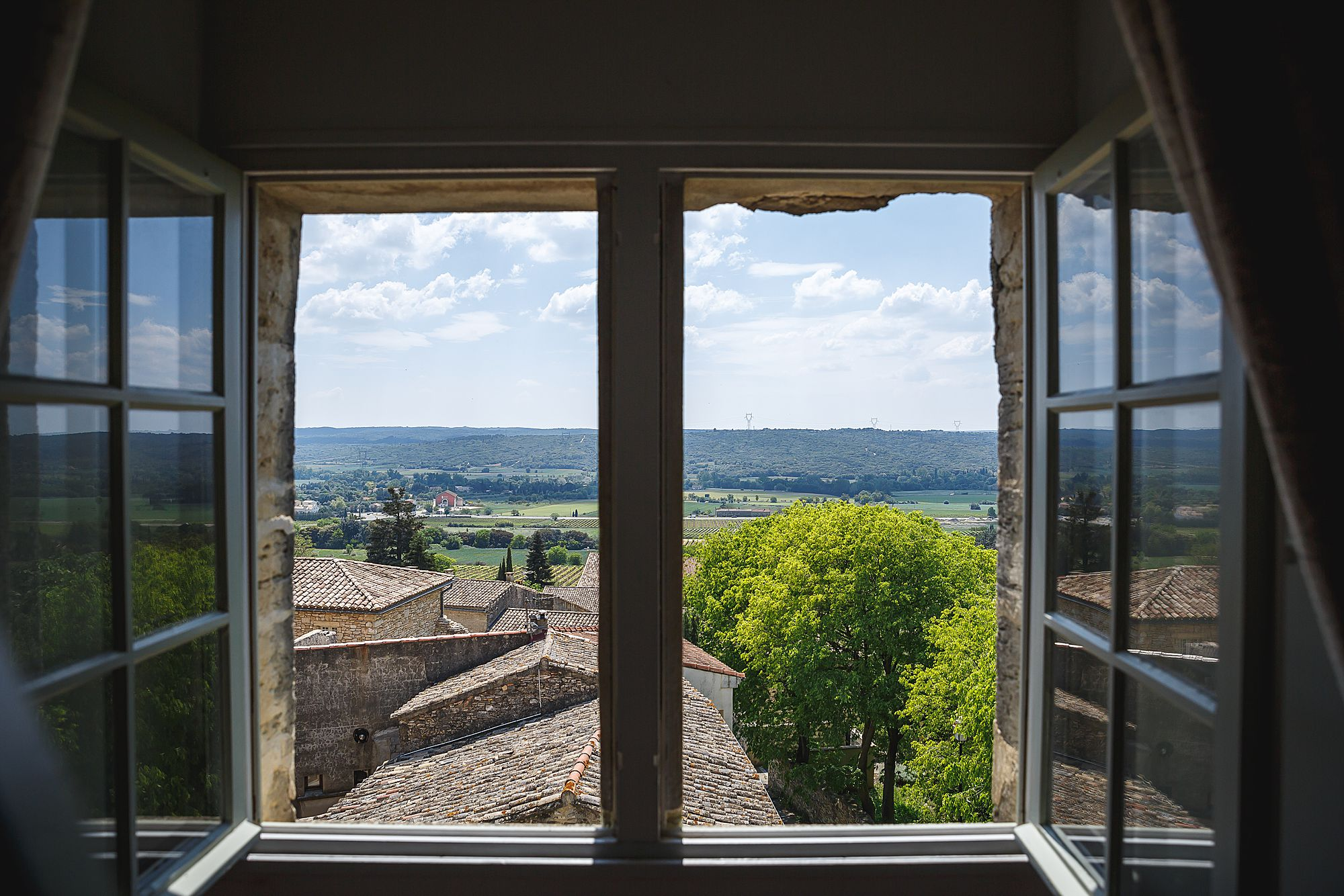view from the windown at Chateau Provence