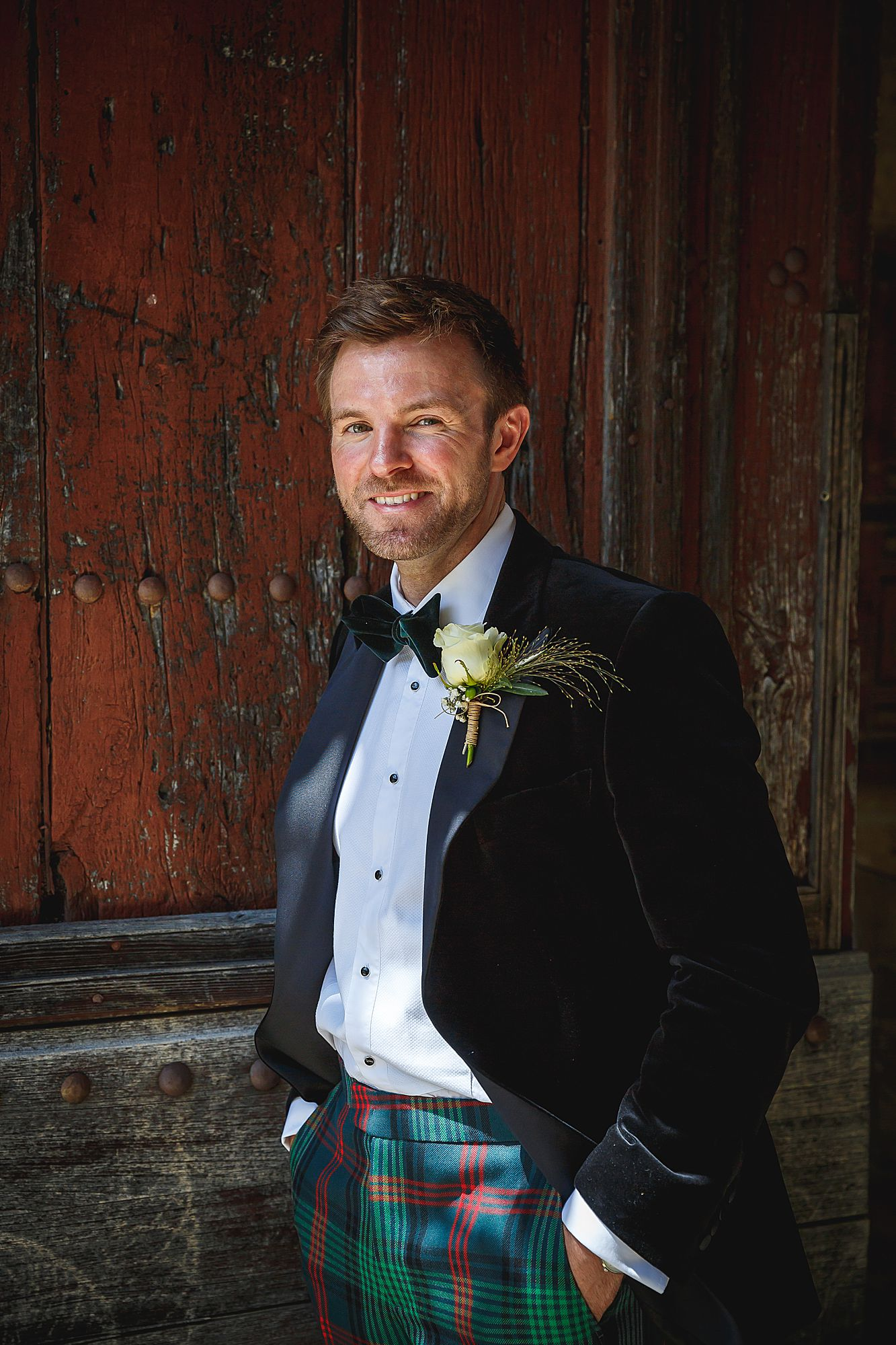 groom at Chateau Provence wedding