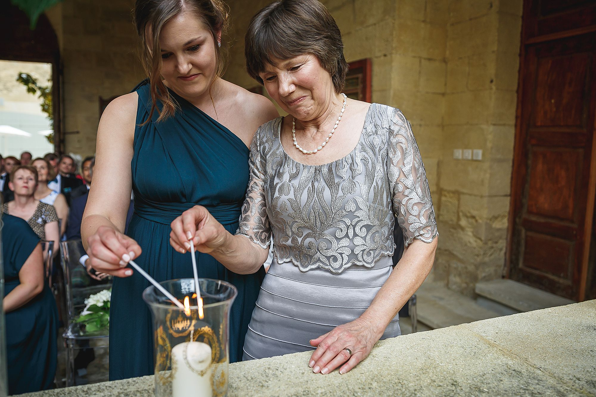 lighting a remembrance candle