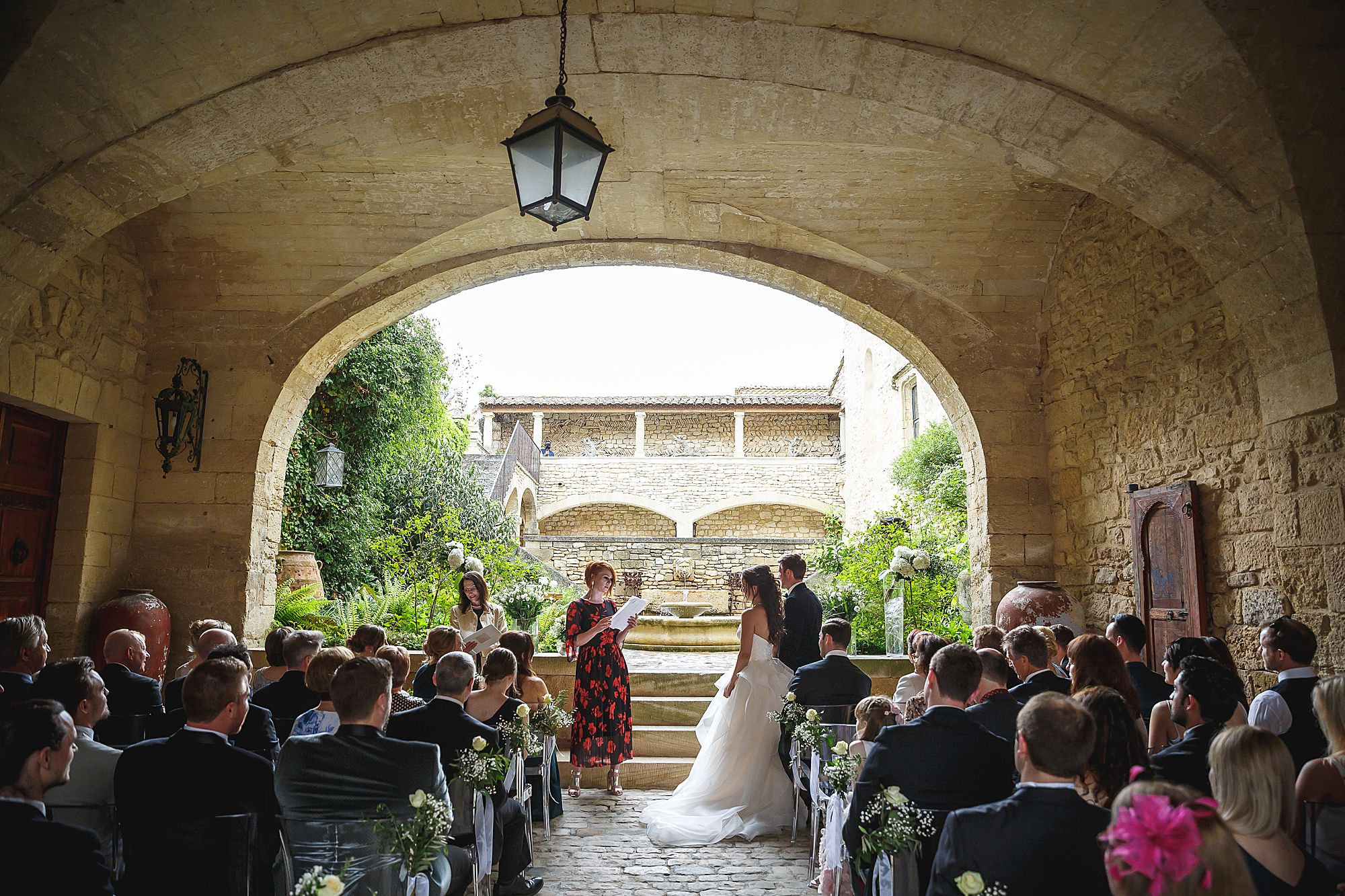 reading at Chateau Provence wedding
