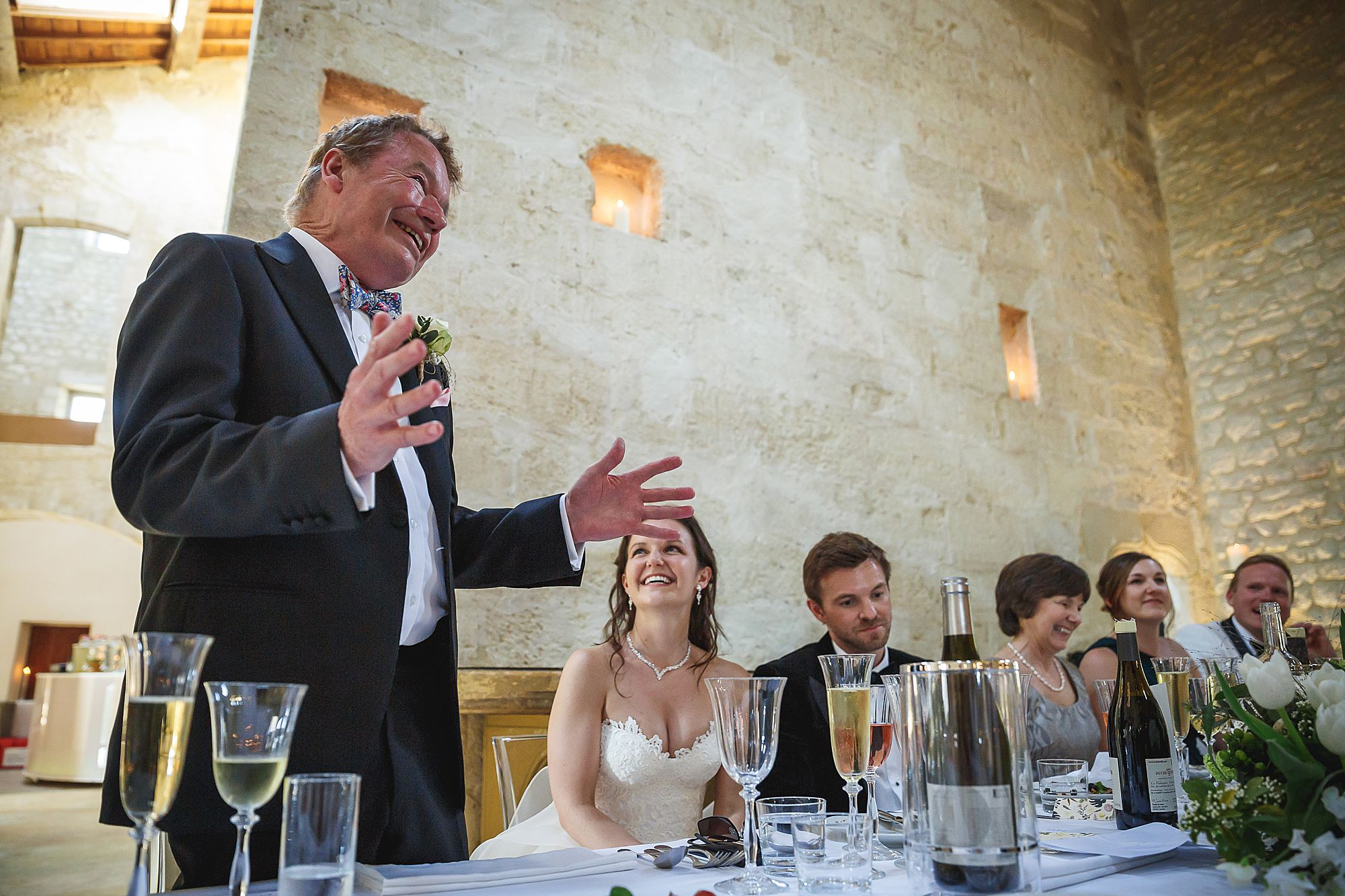 Dads speech at Chateau Provence wedding
