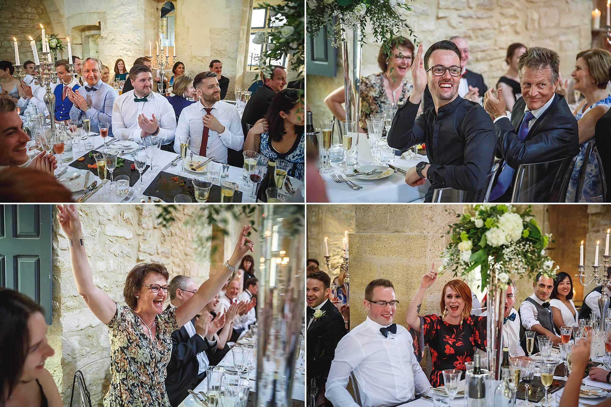 speeches at Chateau Provence wedding
