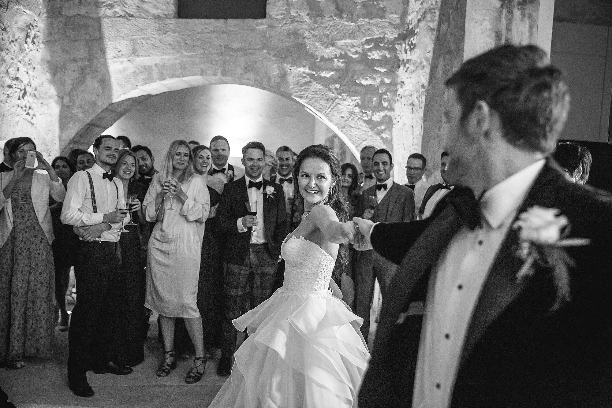 first dance at Chateau Provence wedding