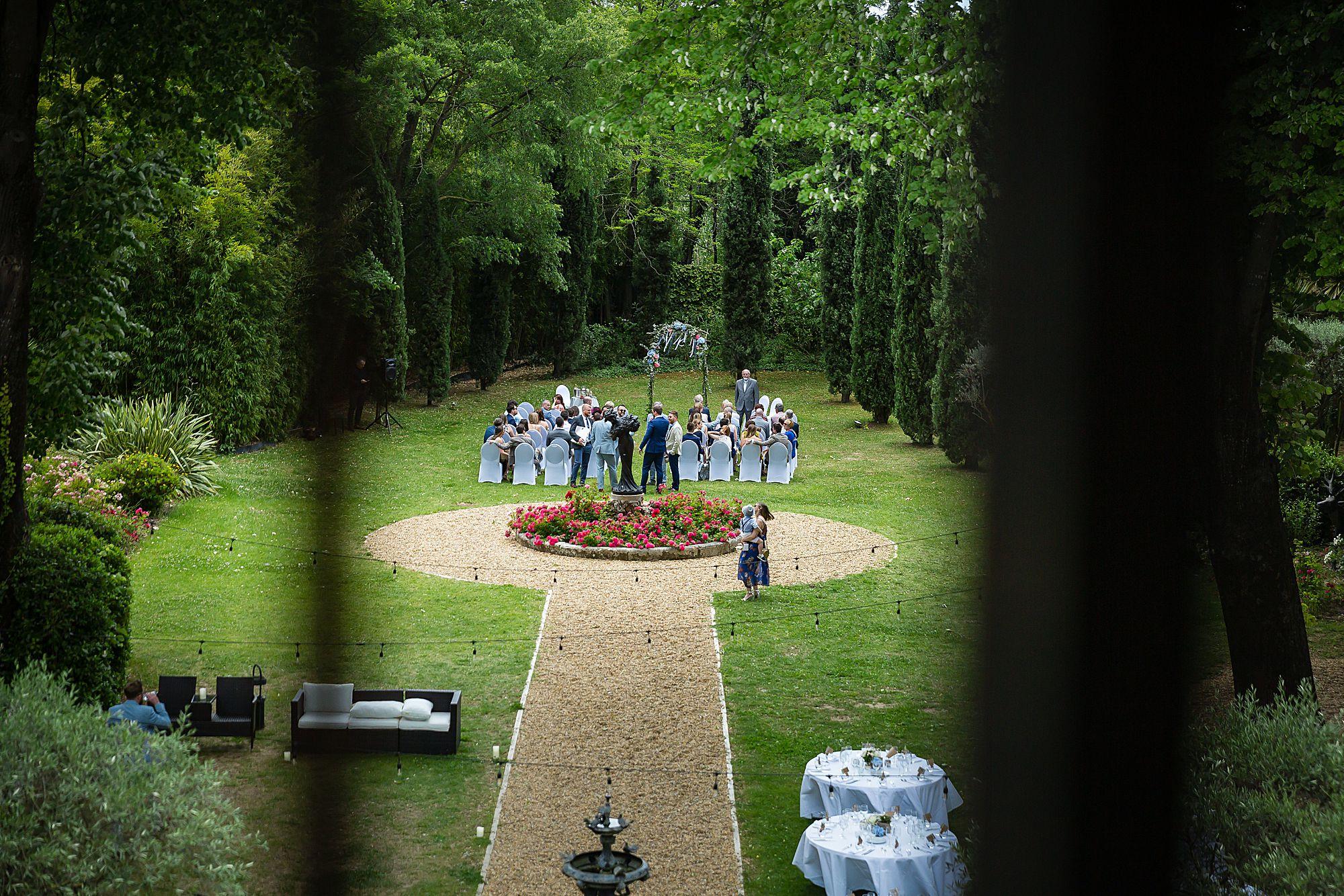 Chateau Rieutort wedding ceremony