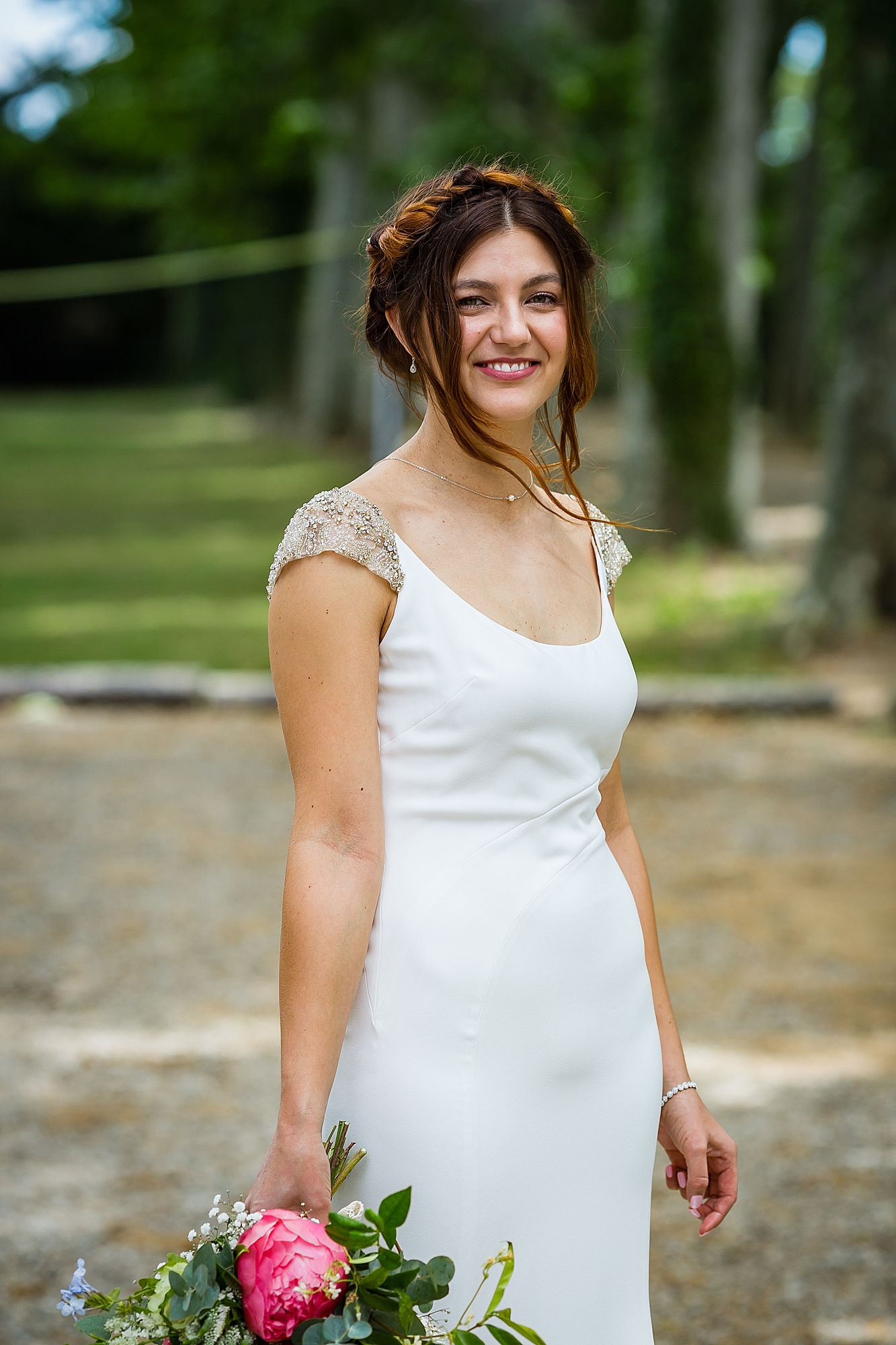 boho bride at Chateau Rieutort wedding