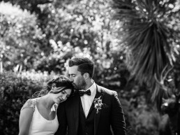Chateau Rieutort wedding romantic black and white portrait