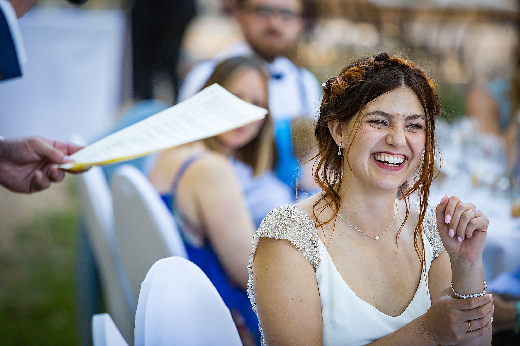Chateau Rieutort wedding speeches