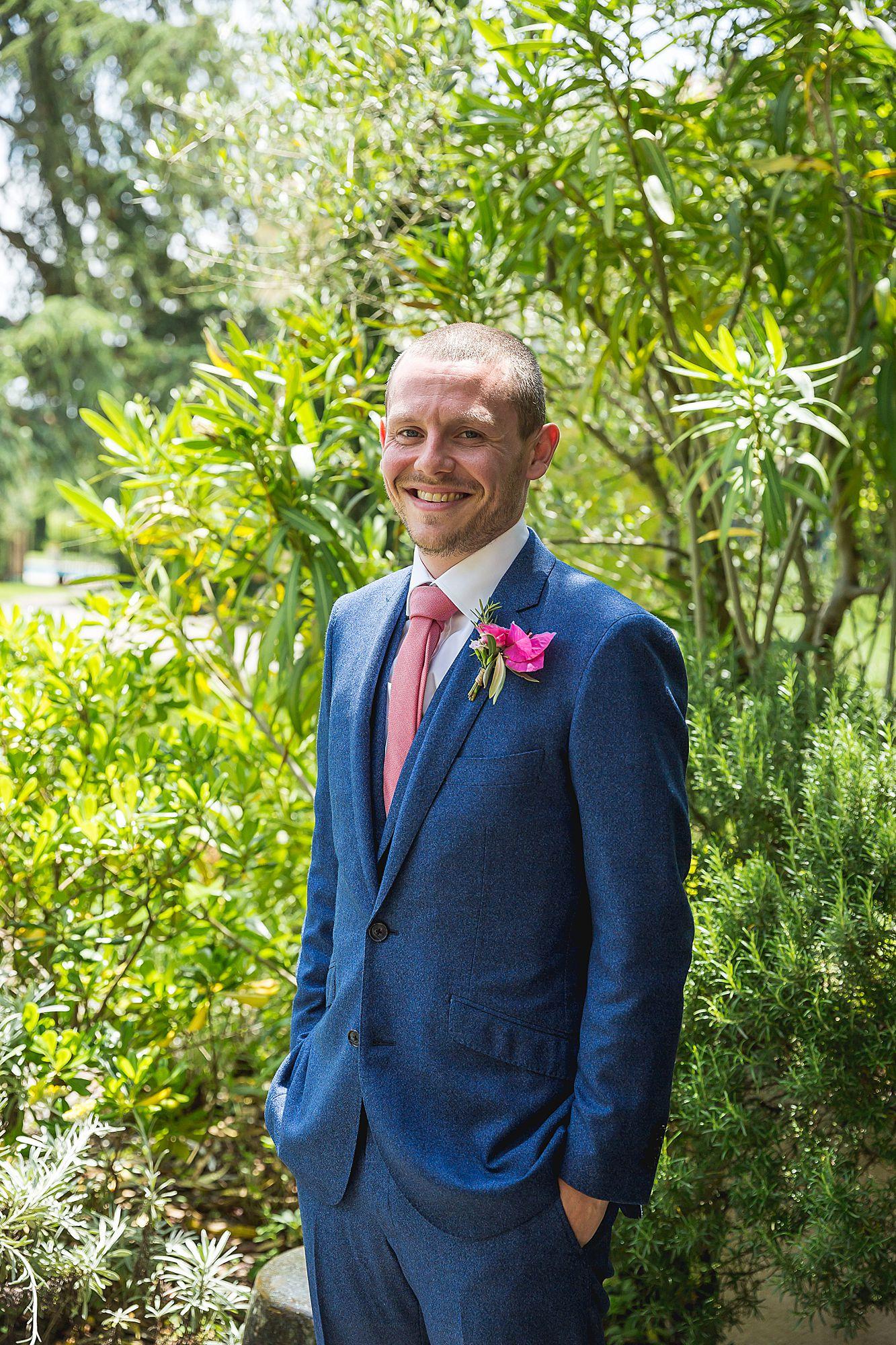 groom at Domain Gayda wedding