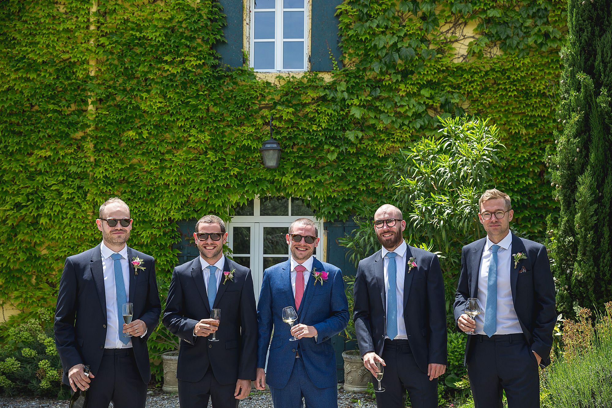 ushers at Domaine Gayda wedding