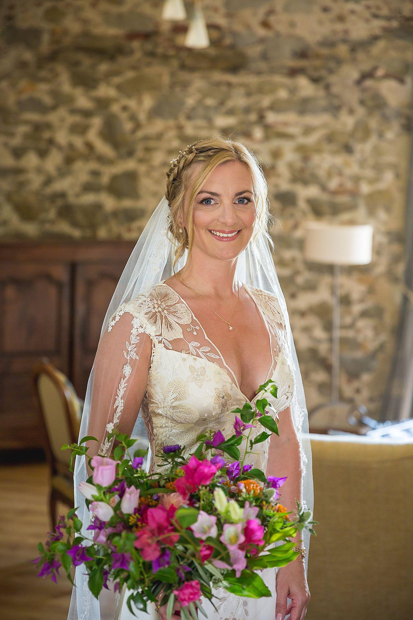 bride at Domaine Gayda wedding