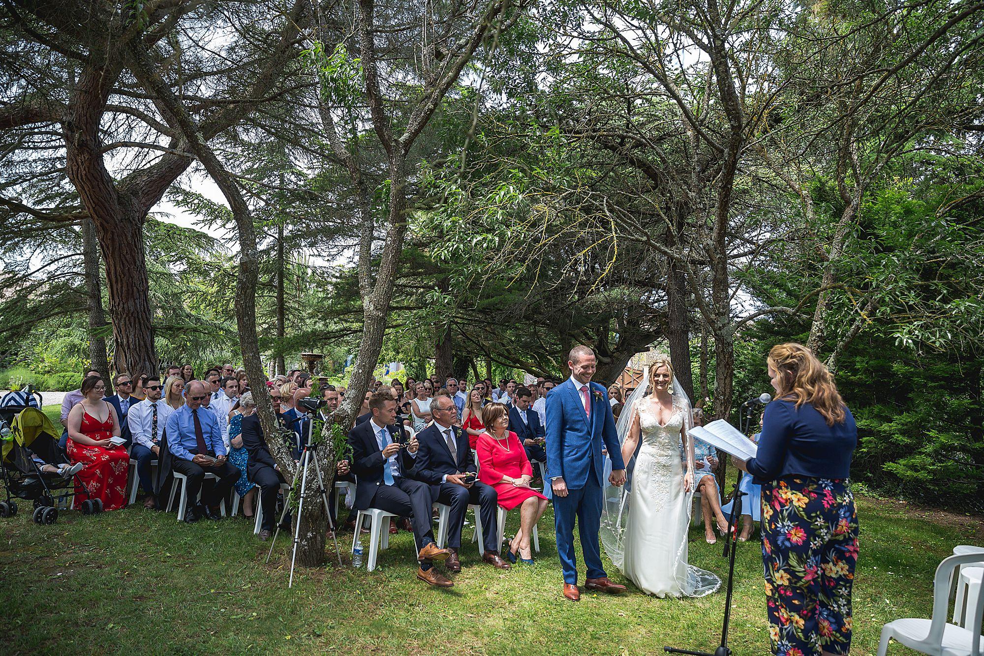 Domaine Gayda wedding ceremony