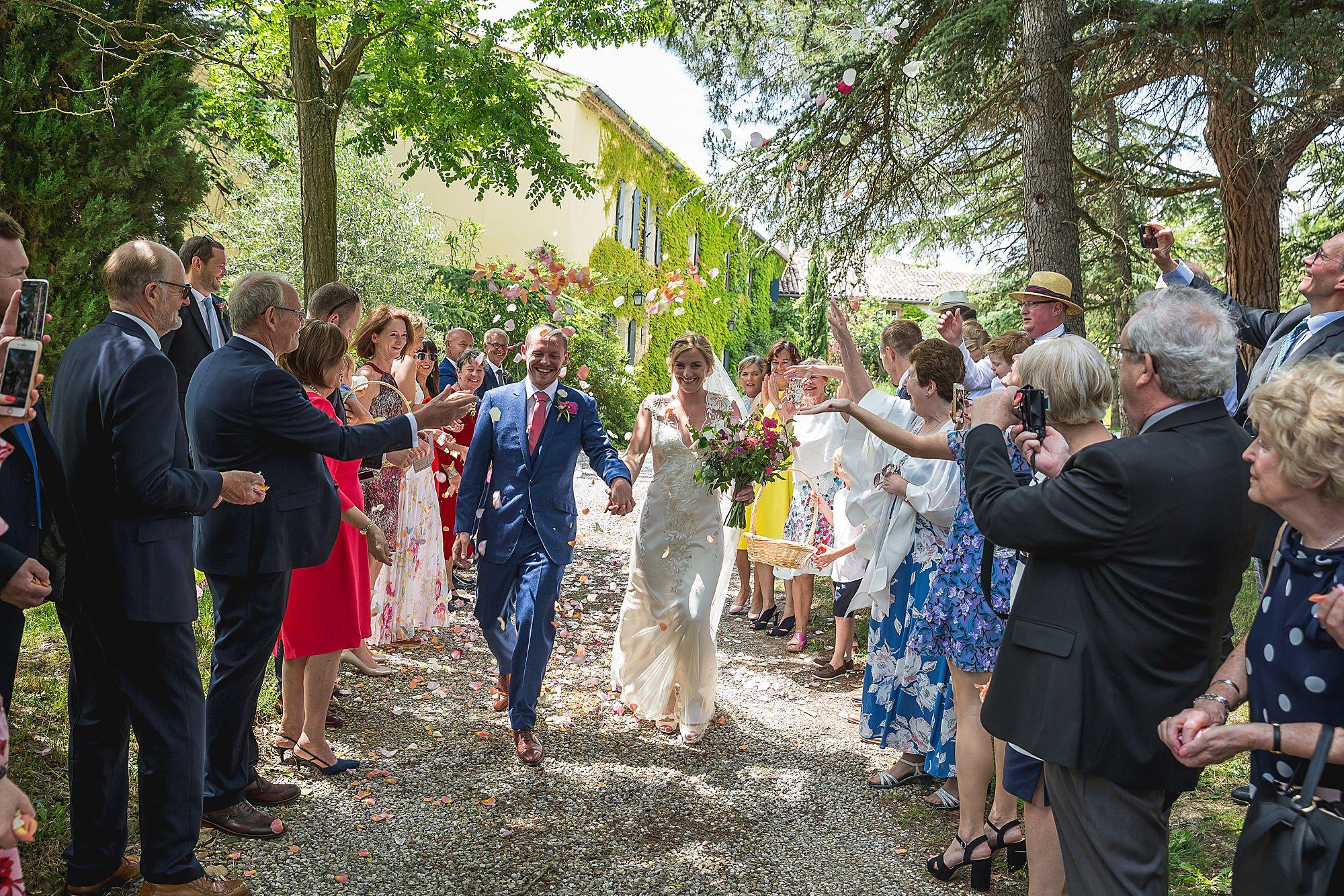 Domaine Gayda wedding confetti