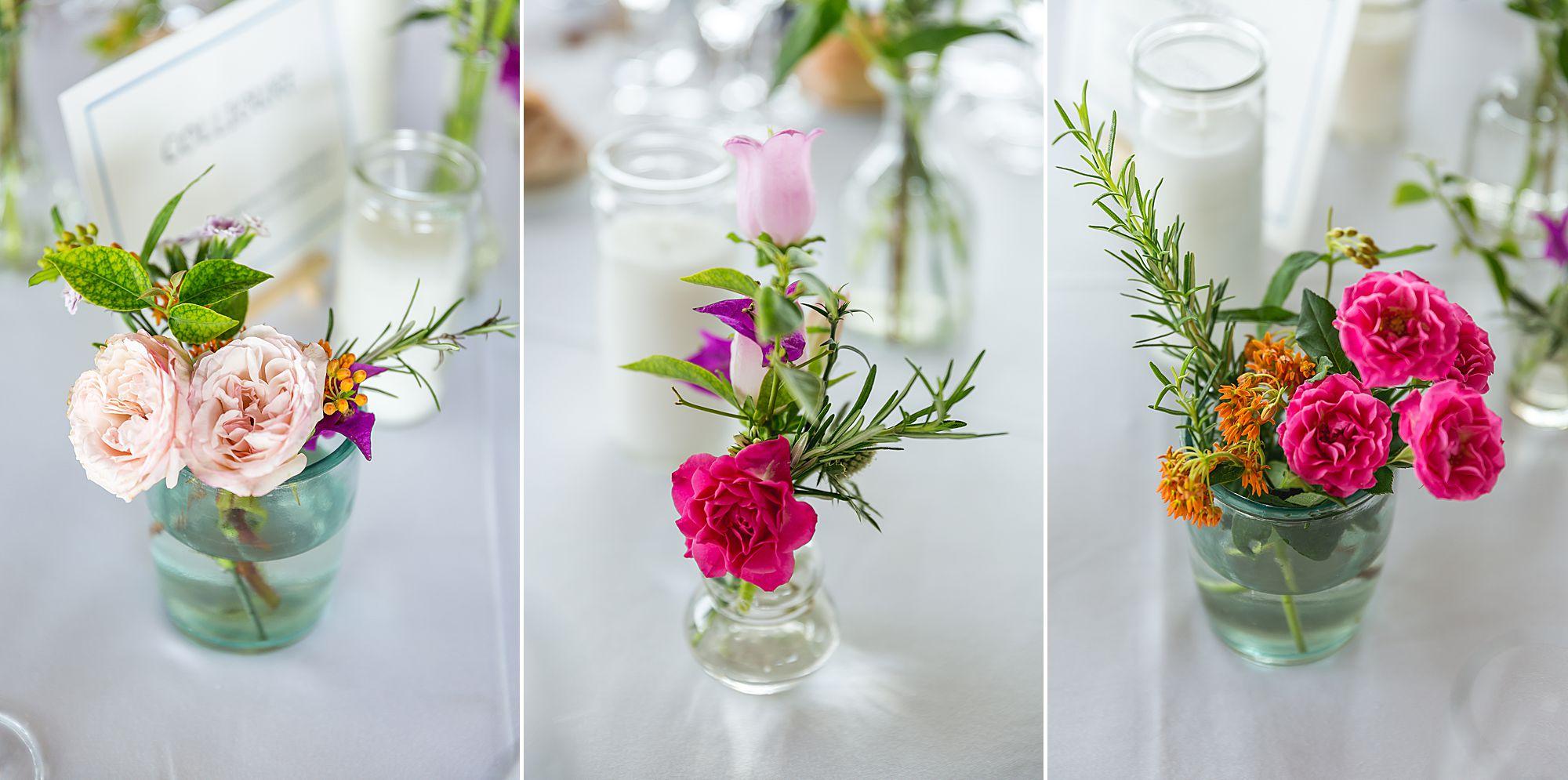 tables at Domaine Gayda wedding