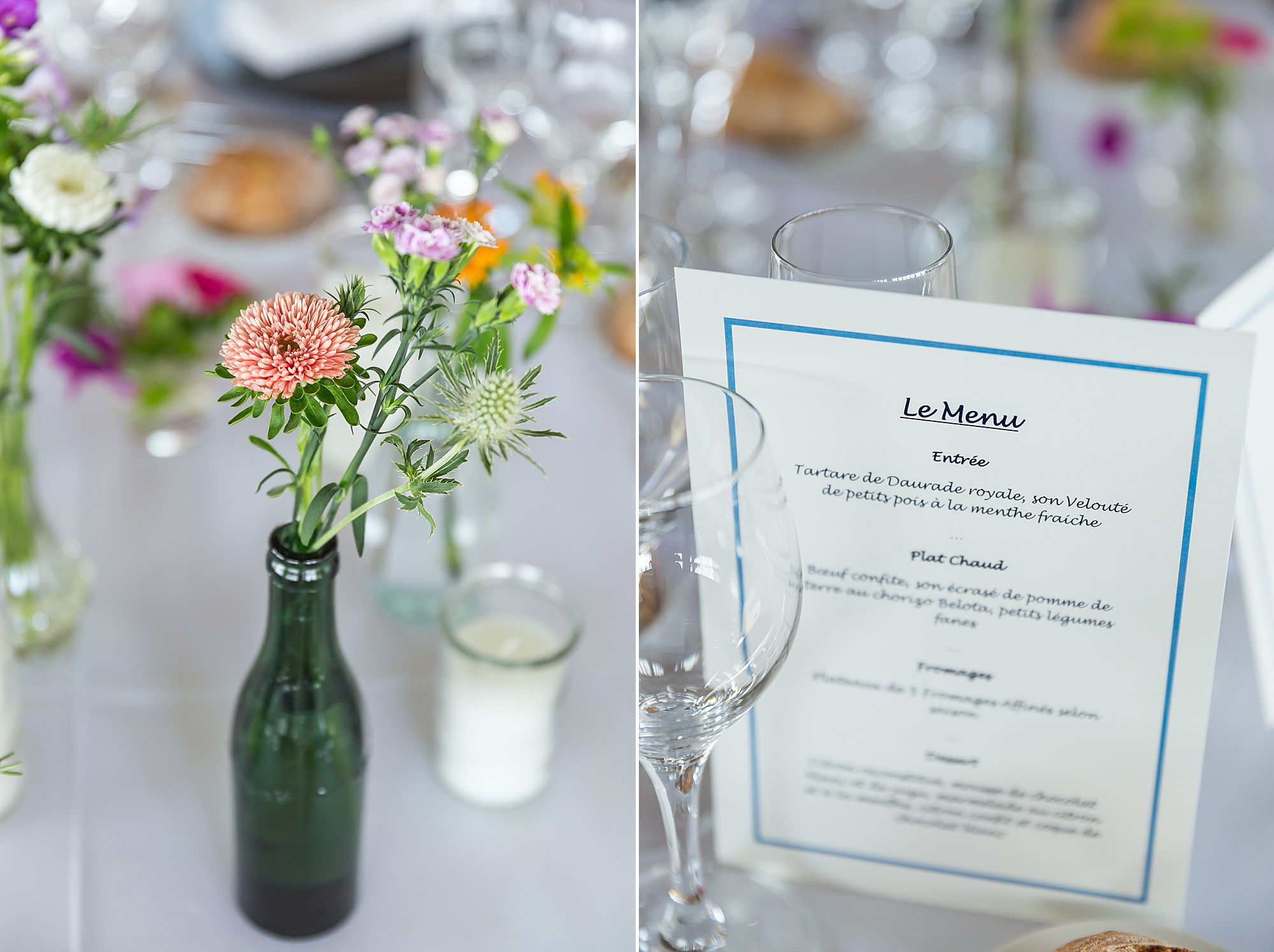 flowers at Domaine Gayda wedding