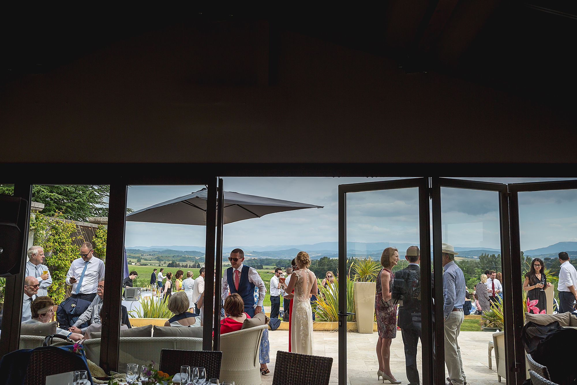 Domaine Gayda wedding drinks reception