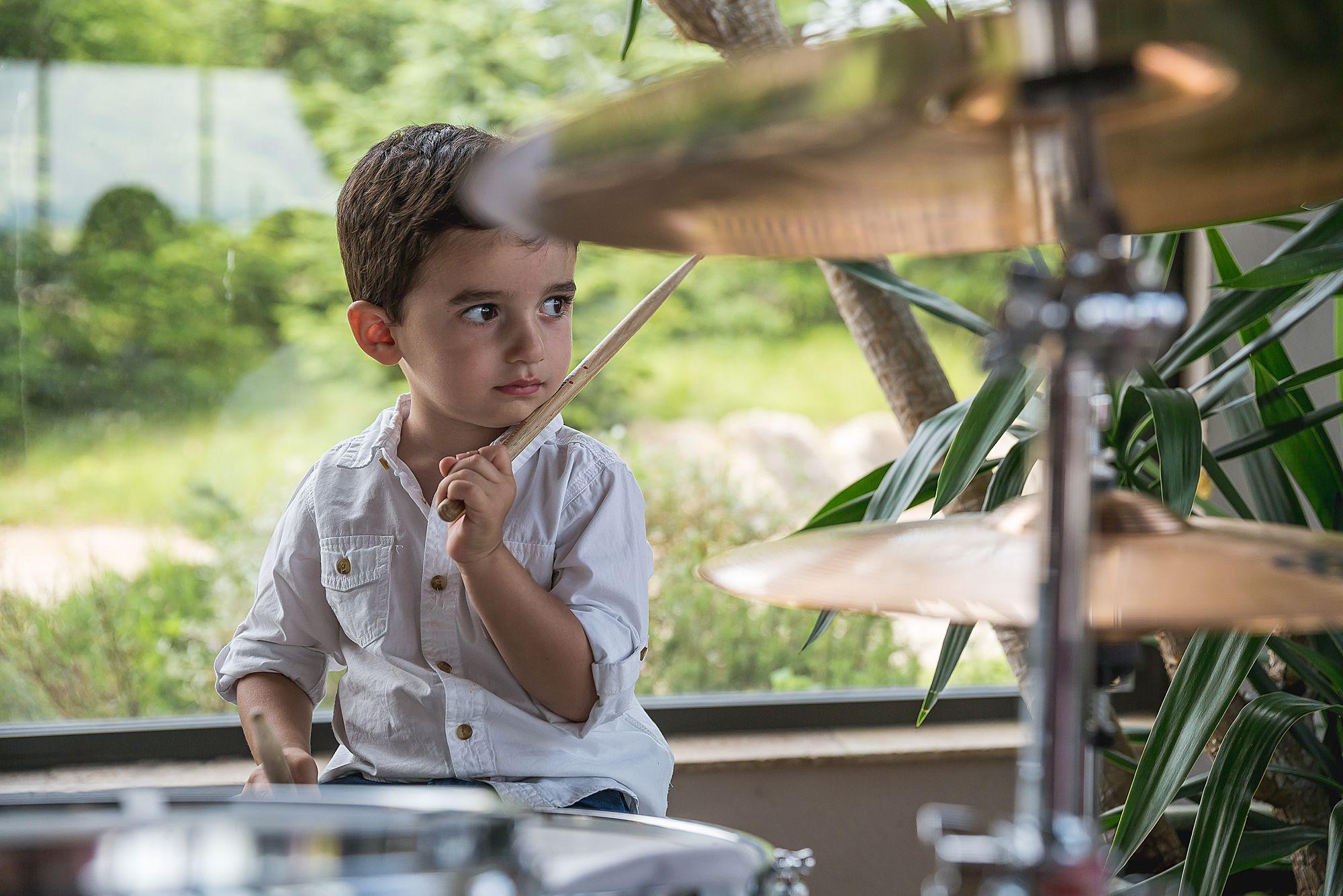 little boy drummer