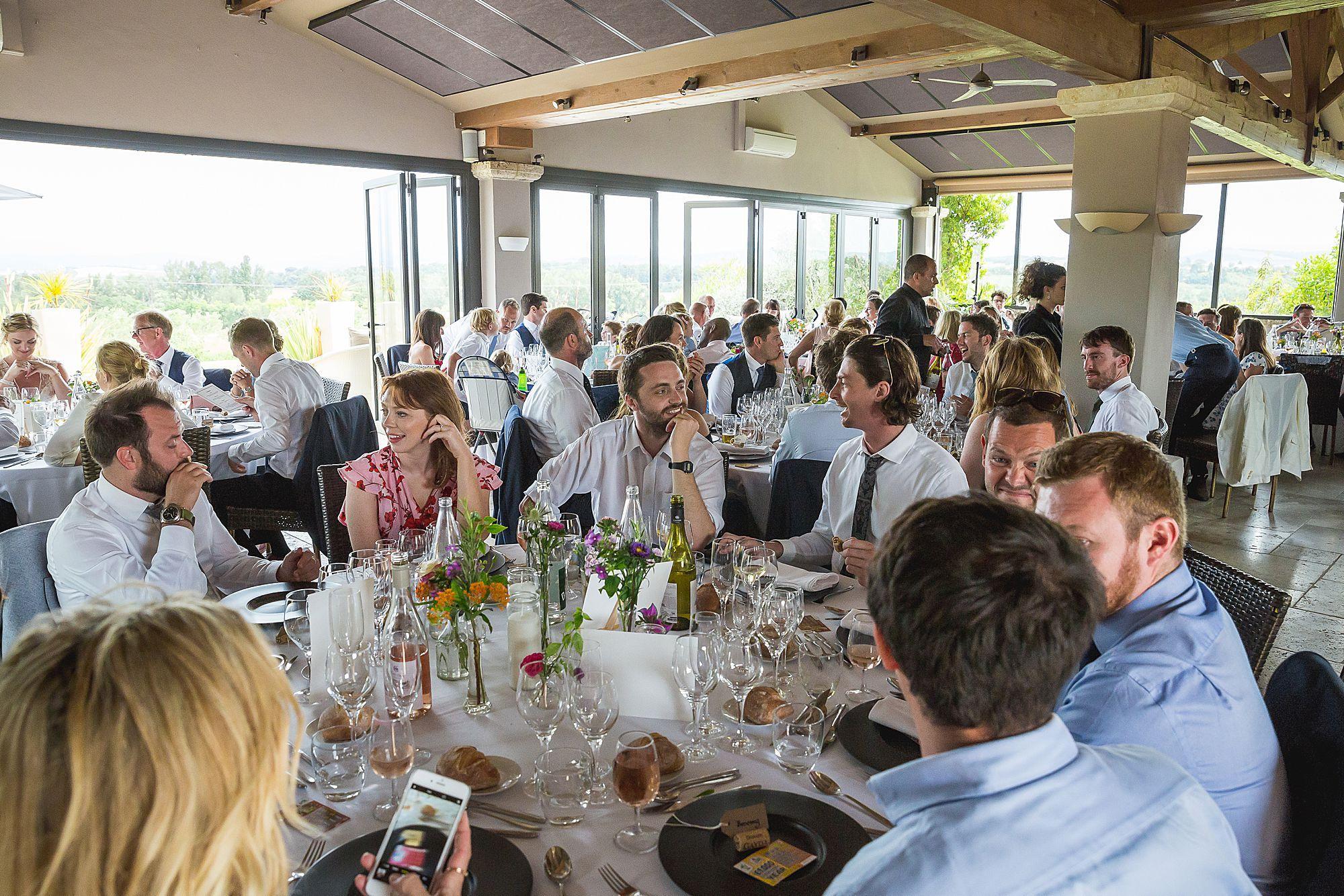 Domaine Gayda wedding tables