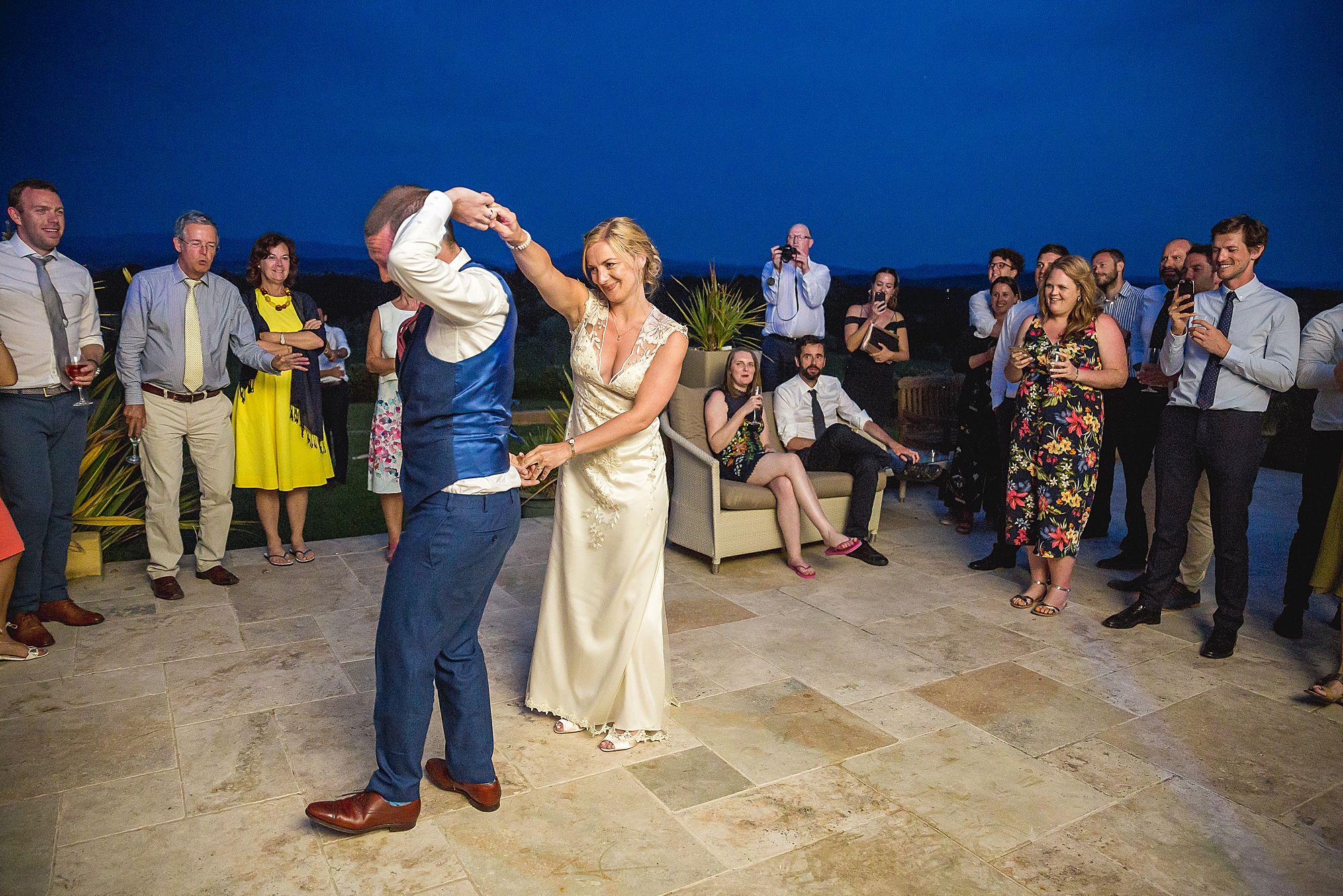 Domaine Gayda wedding first dance