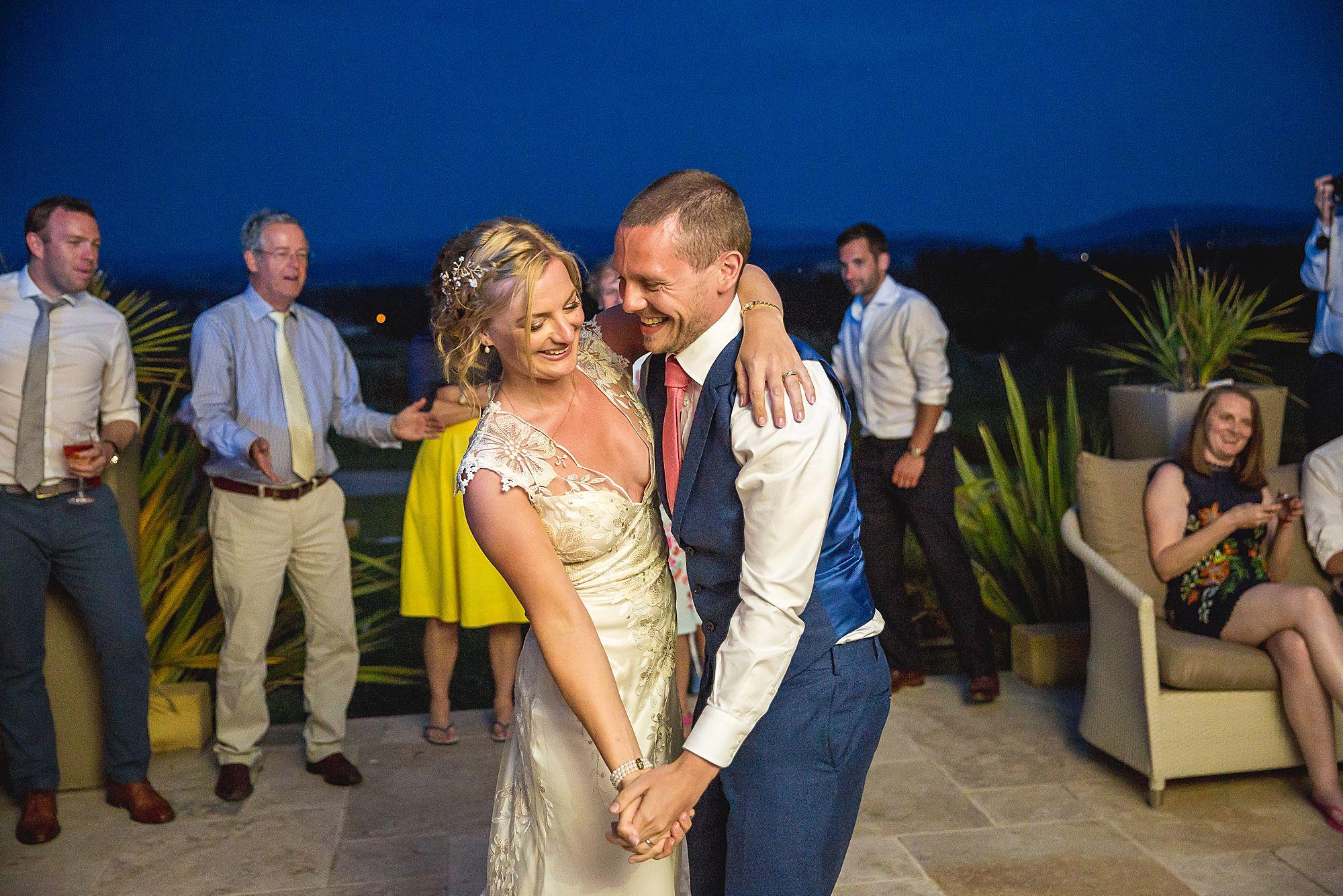 dancing at Domaine Gayda wedding