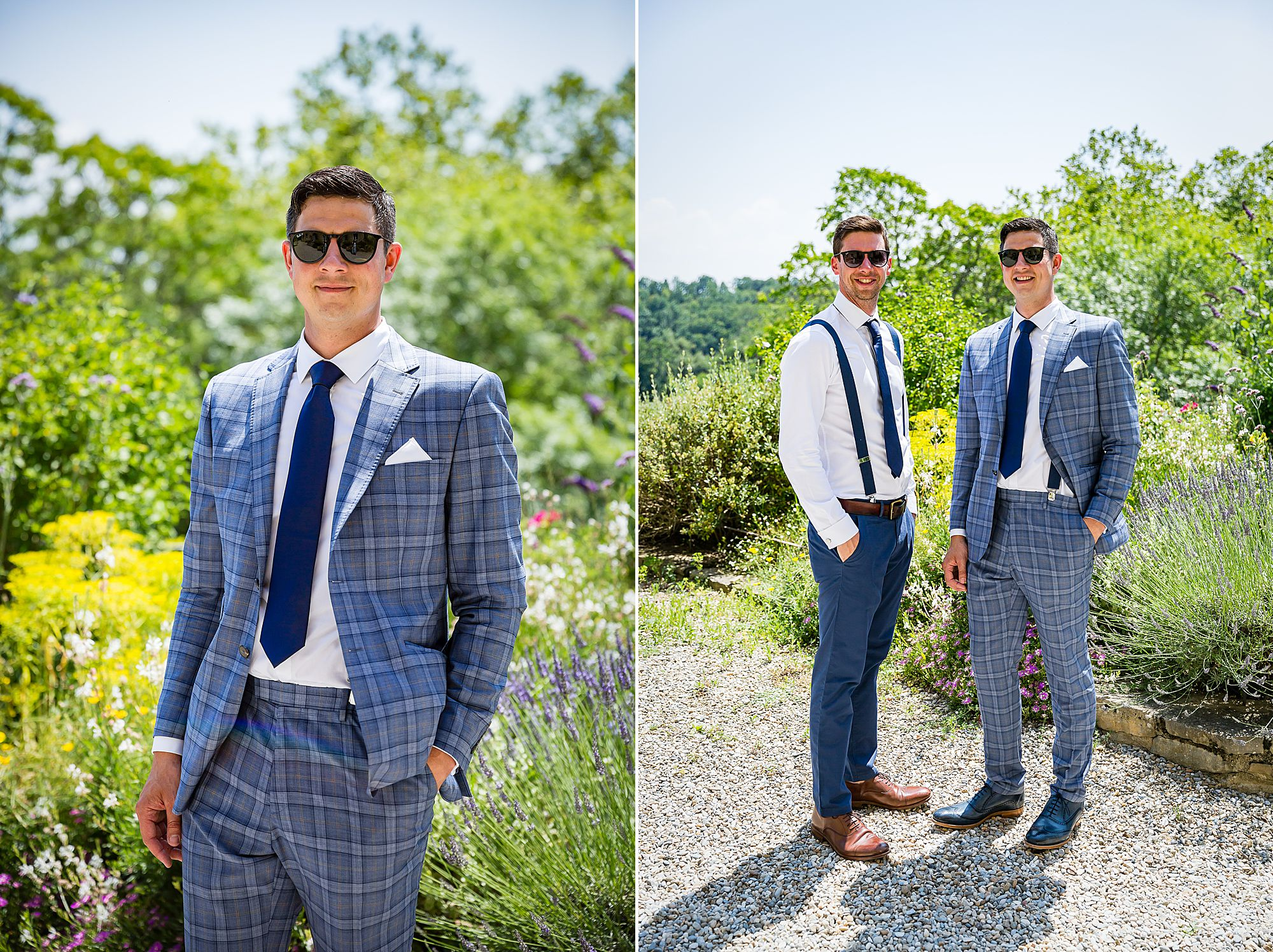 groom at Chateau de Queille Wedding