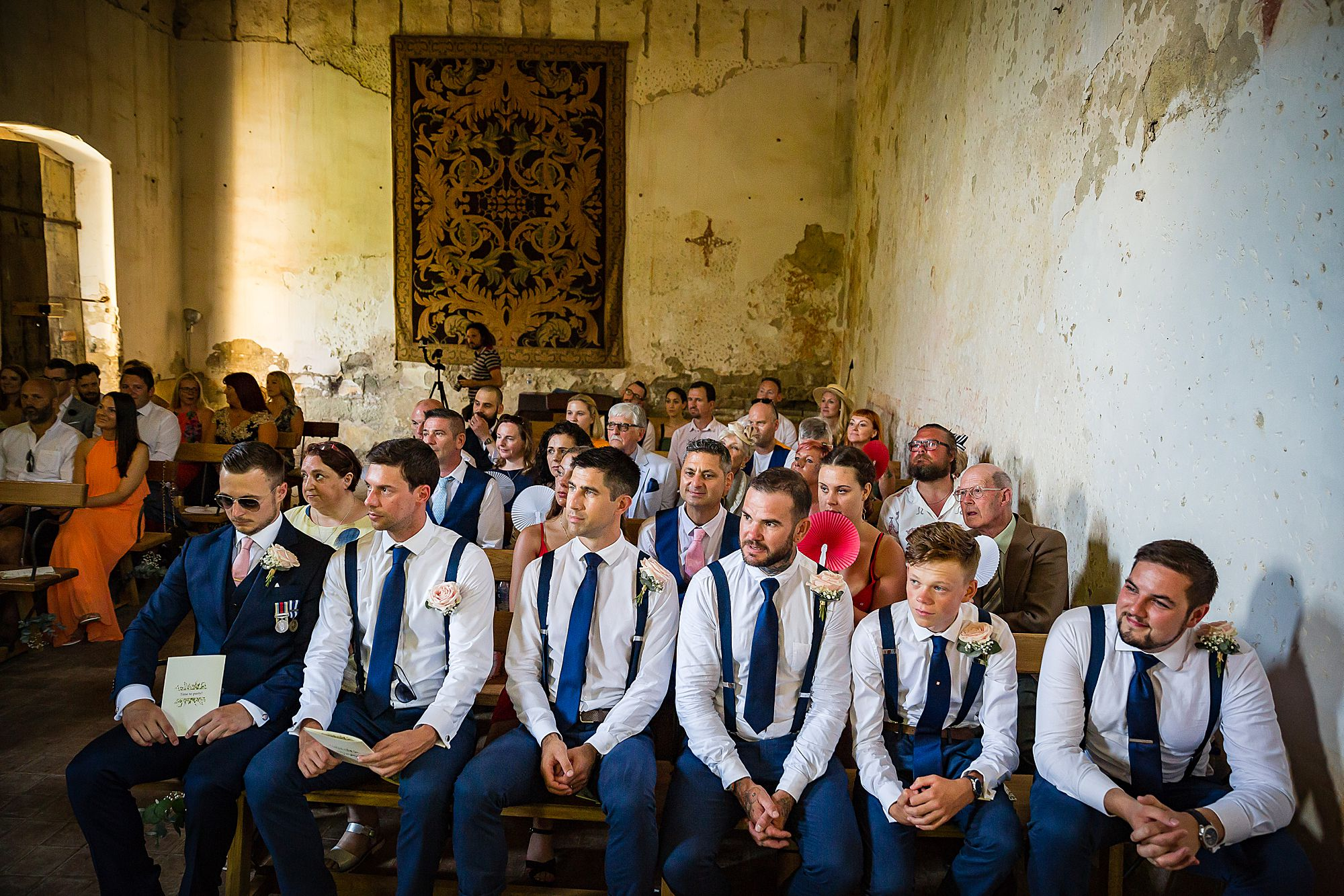 congregation at Chateau de Queille Wedding