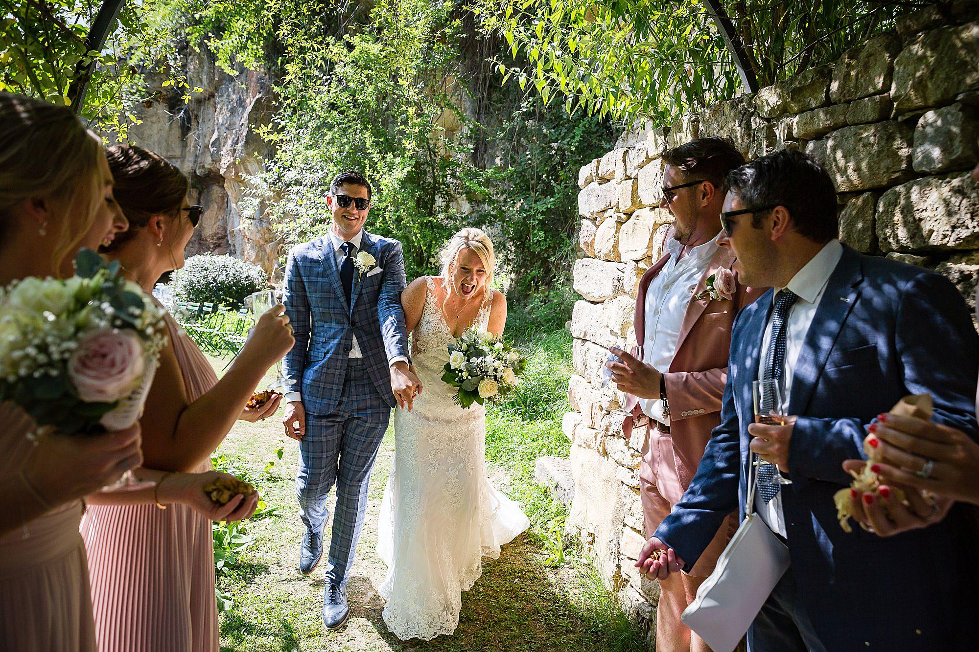 Confetti at Chateau de Queille Wedding