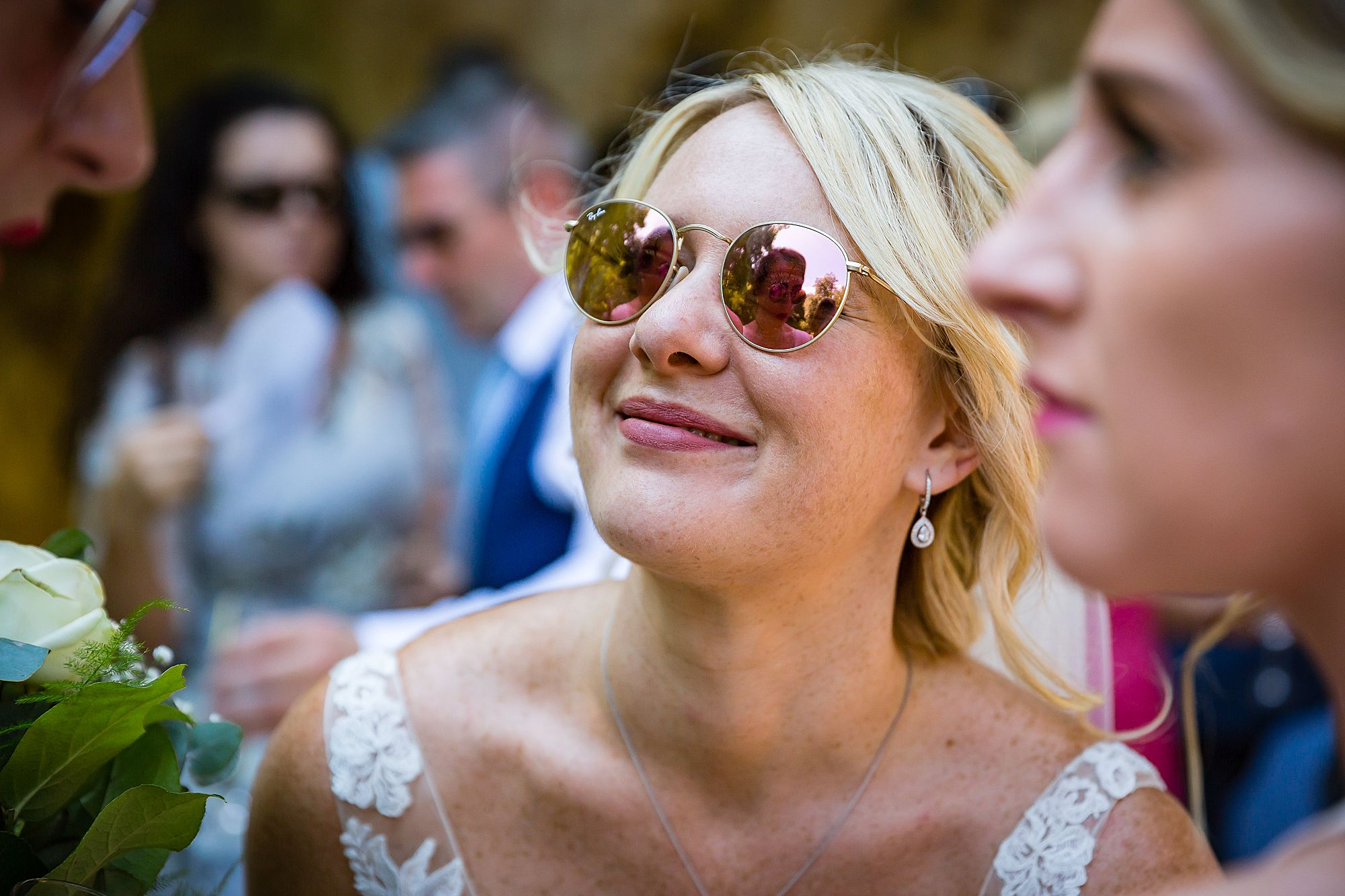 bride at Chateau de Queille Wedding