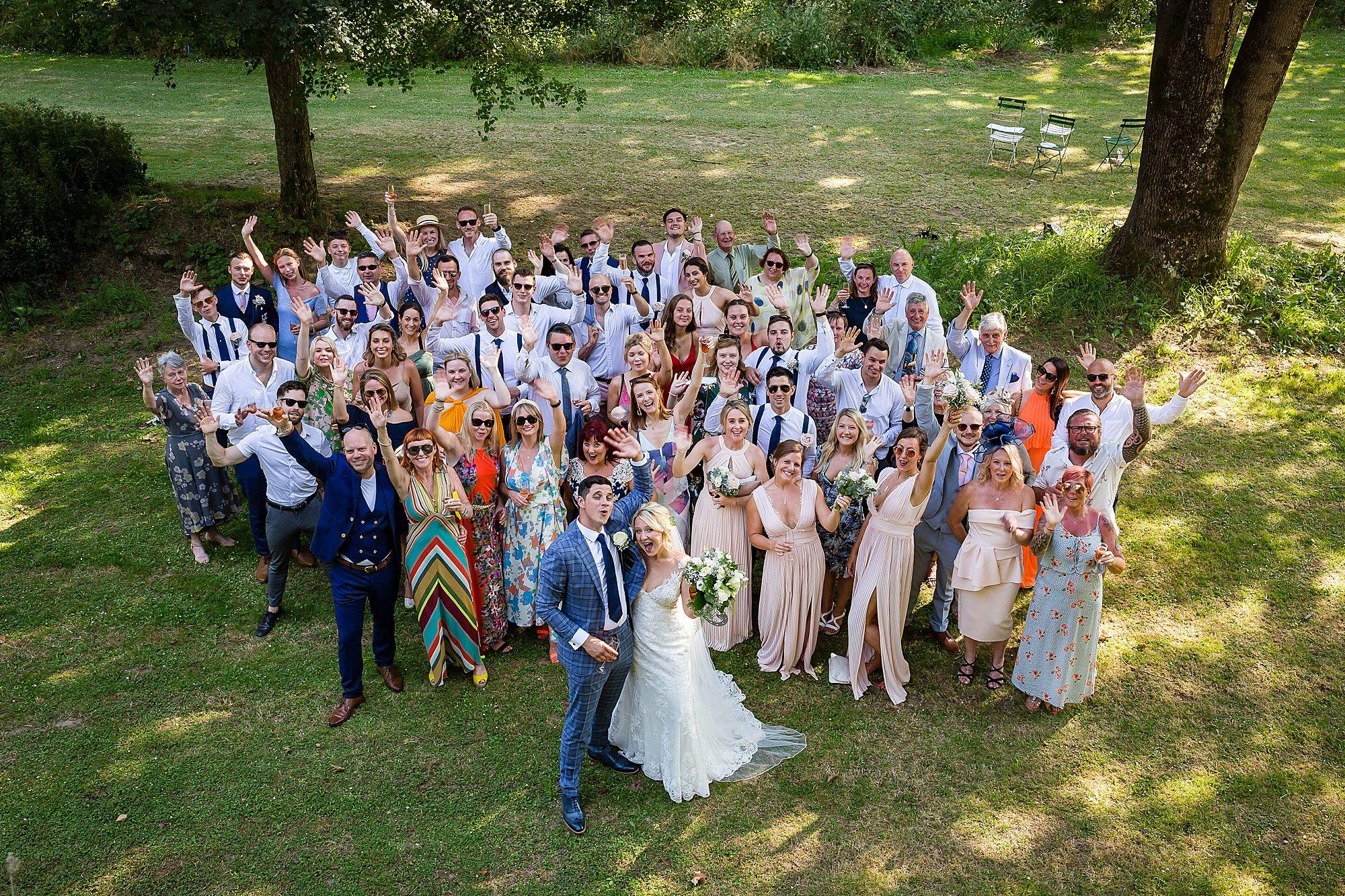 Chateau de Queille Wedding group images
