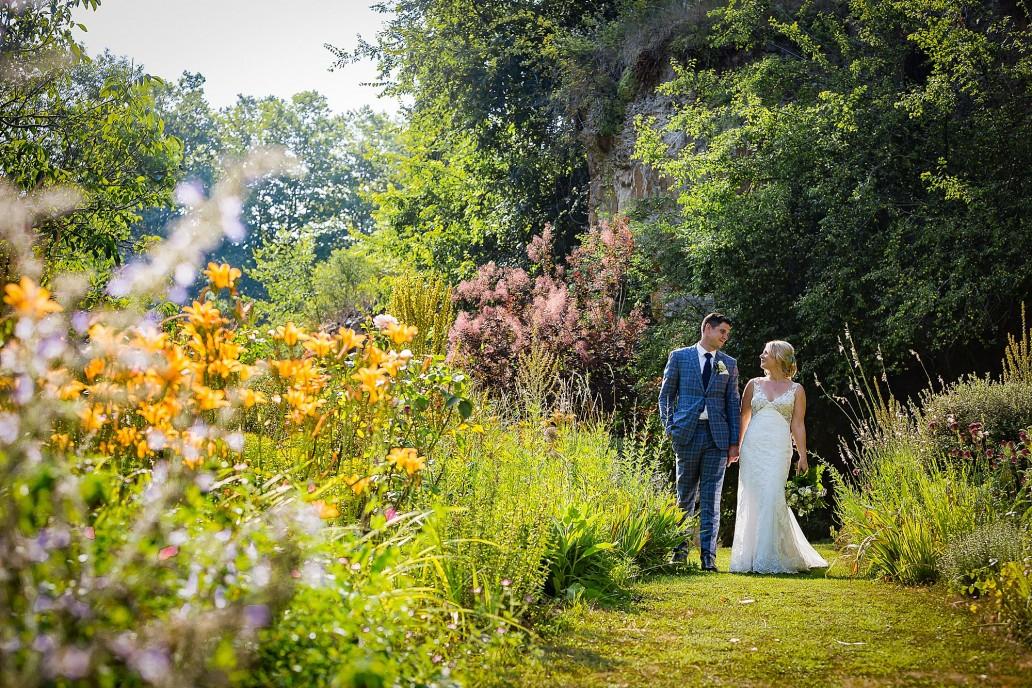 flower garden at Chateau de Queille Wedding