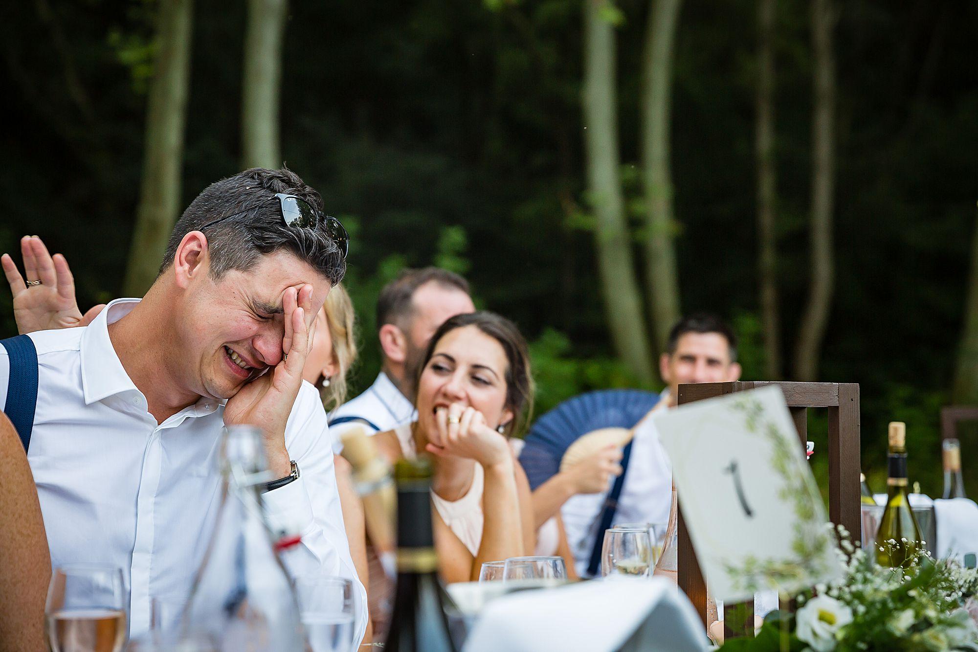 groom cringing
