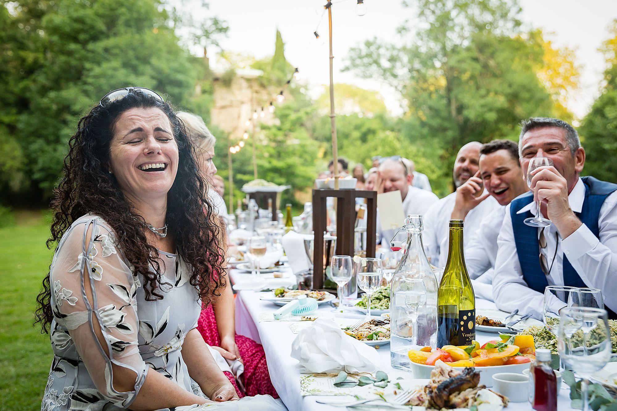 guests laugh