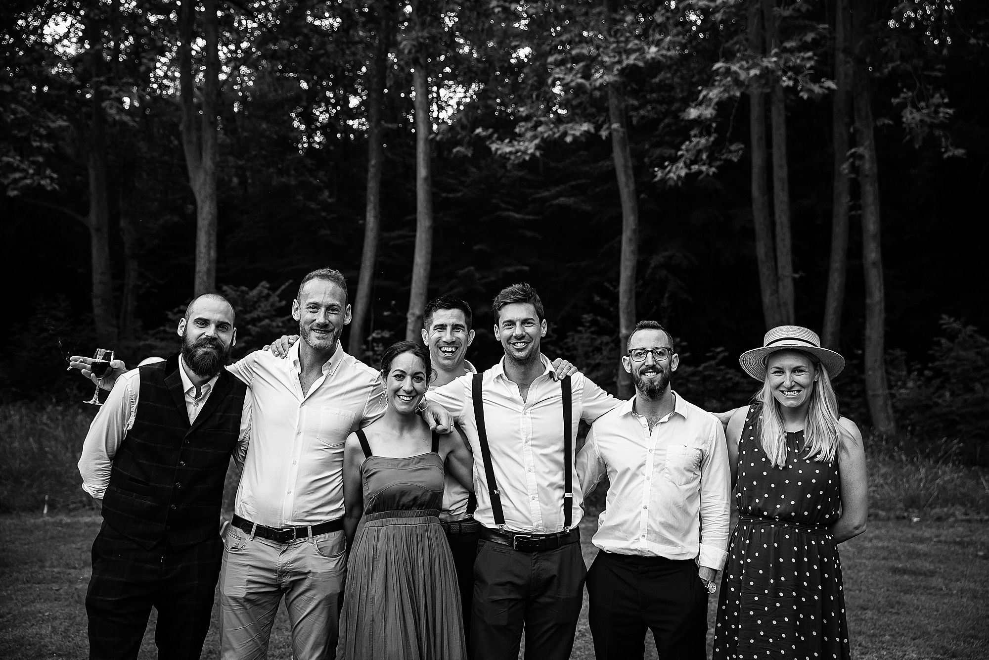 friends at Chateau de Queille Wedding