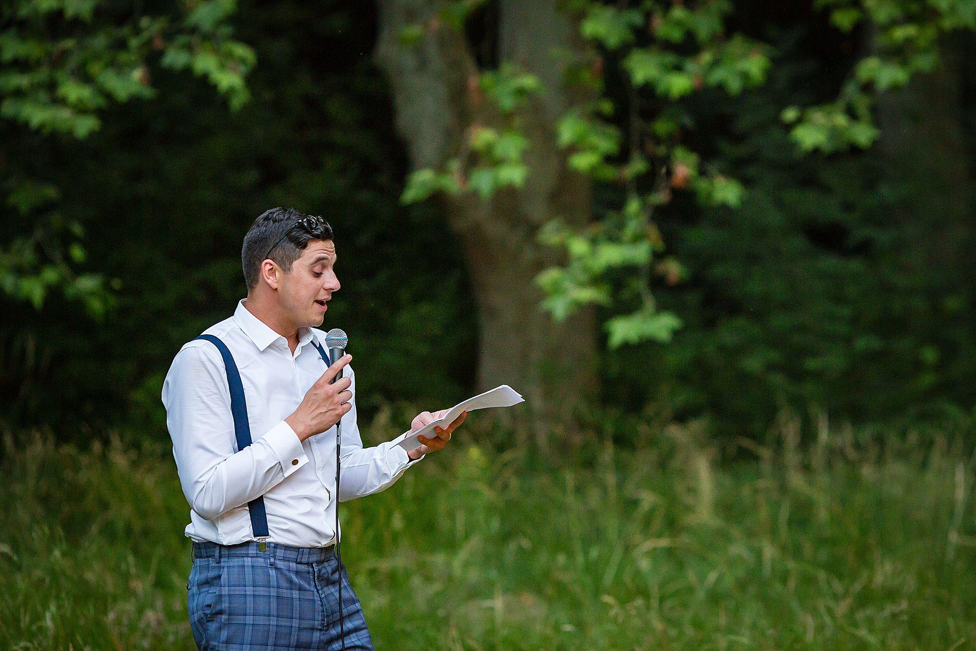 groom makes his speech