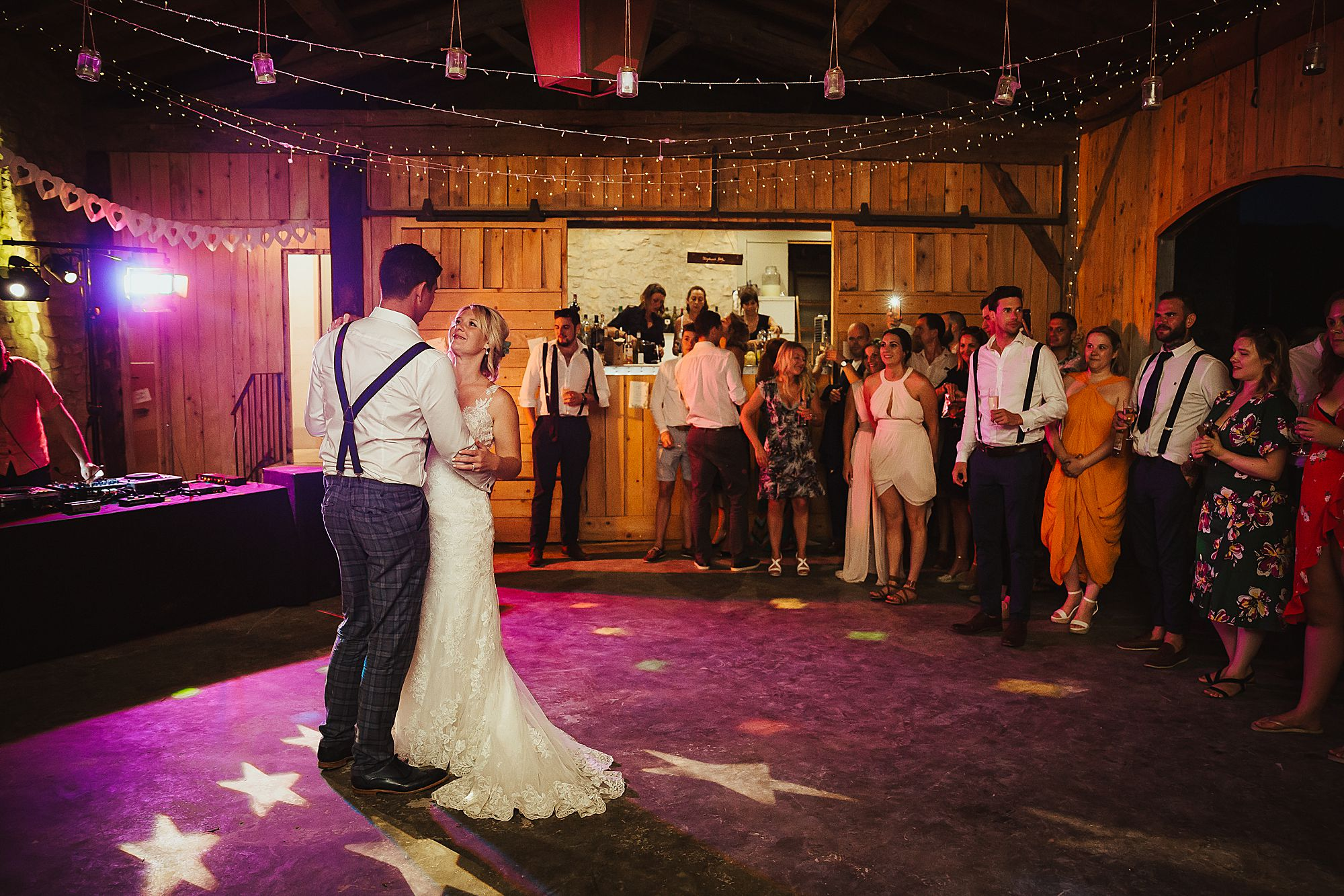 dancing at Chateau de Queille Wedding