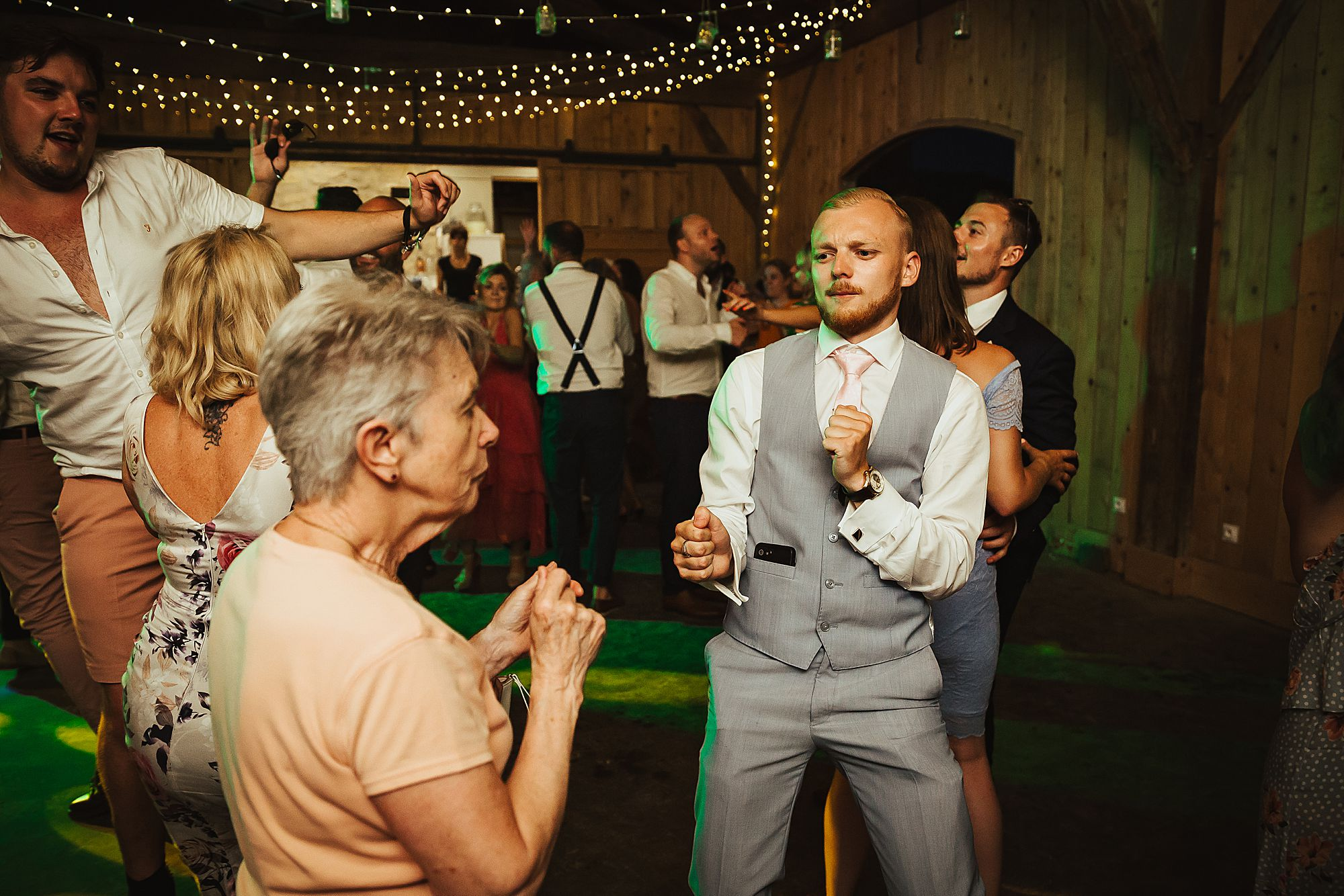 man dances with gran