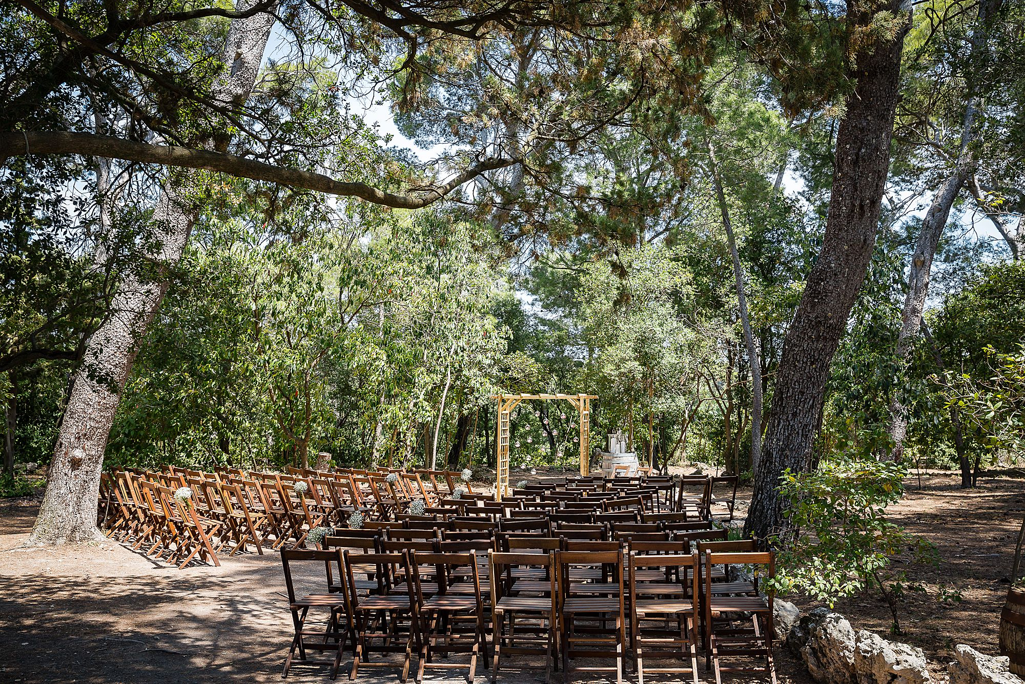 outdoor wedding Domaine de la Grangette