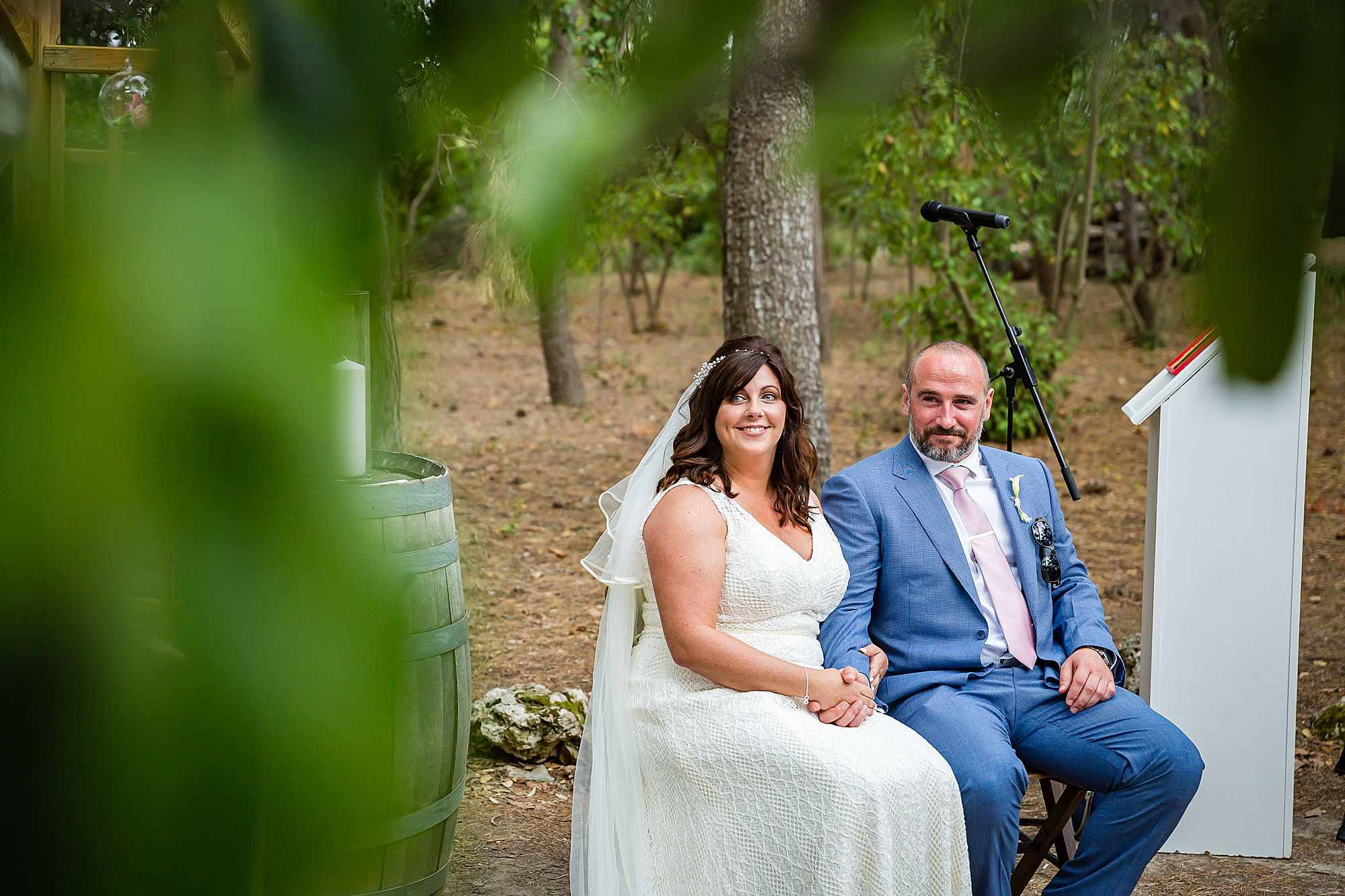 bride and groom at their Domaine de la Grangette wedding
